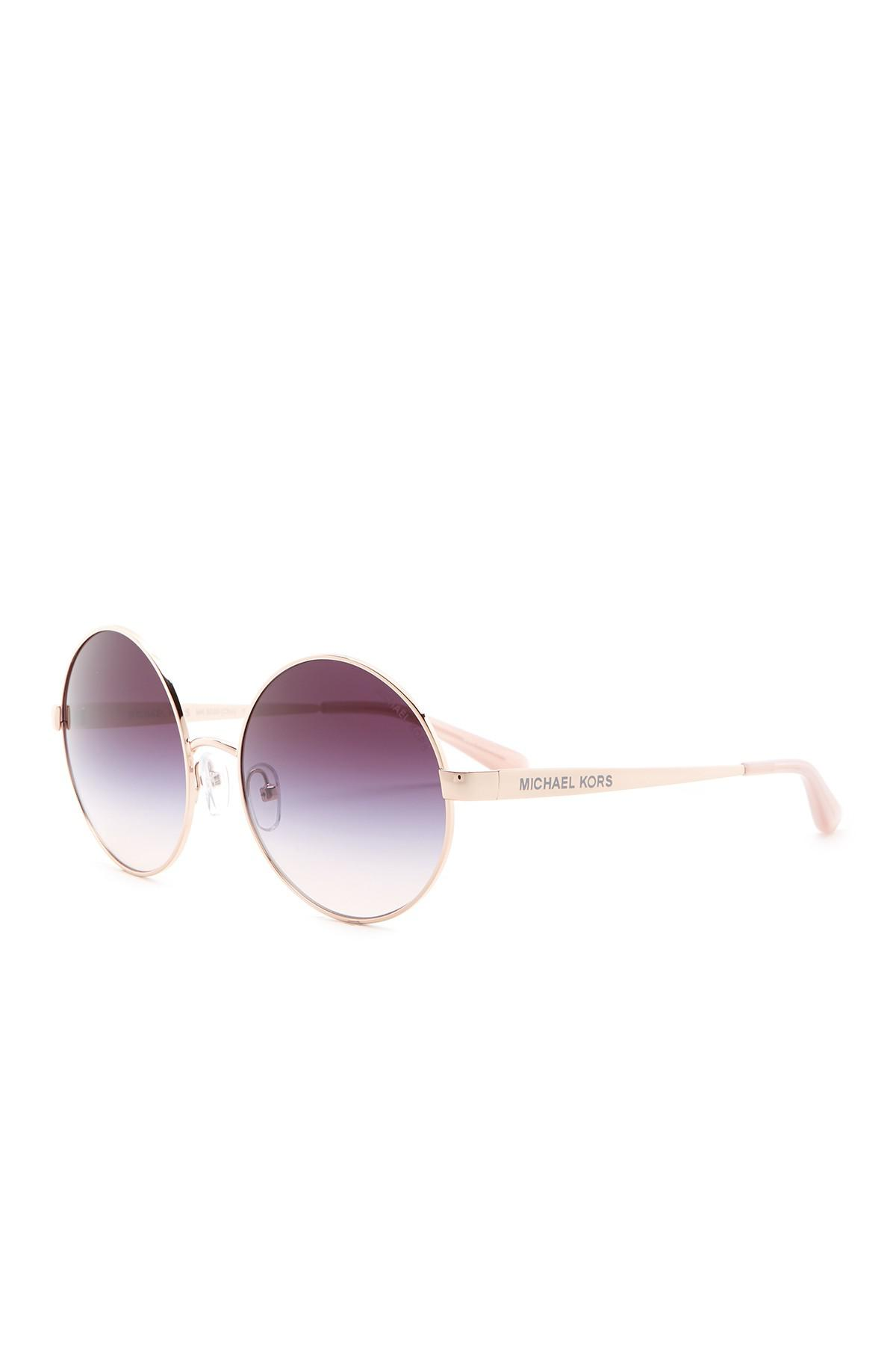 748ef398fc Michael Kors Cho 56mm Round Sunglasses in Purple - Lyst
