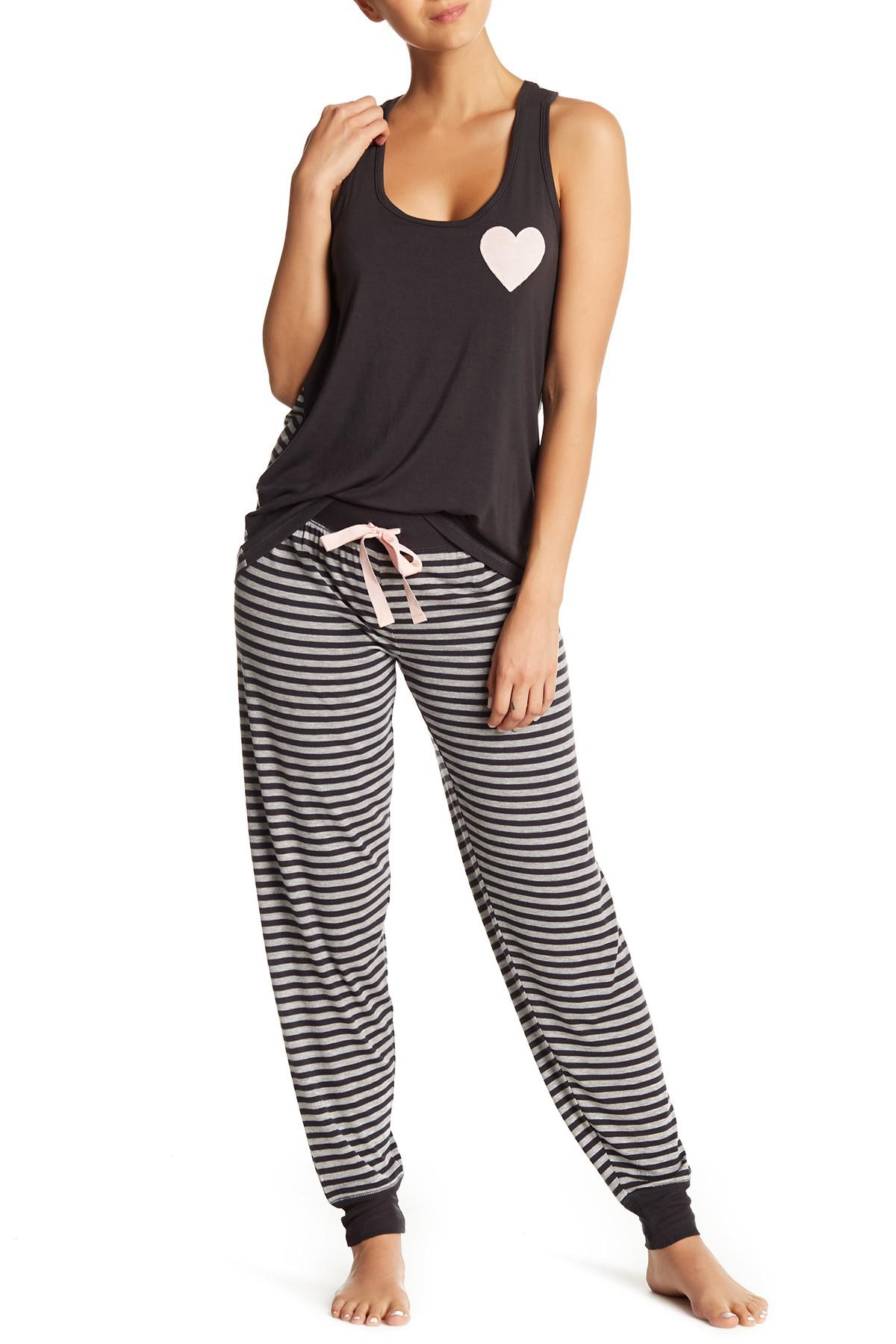 a12bf57a10 Lyst - Pj Salvage Beauty Queen Pajama Pants in Black