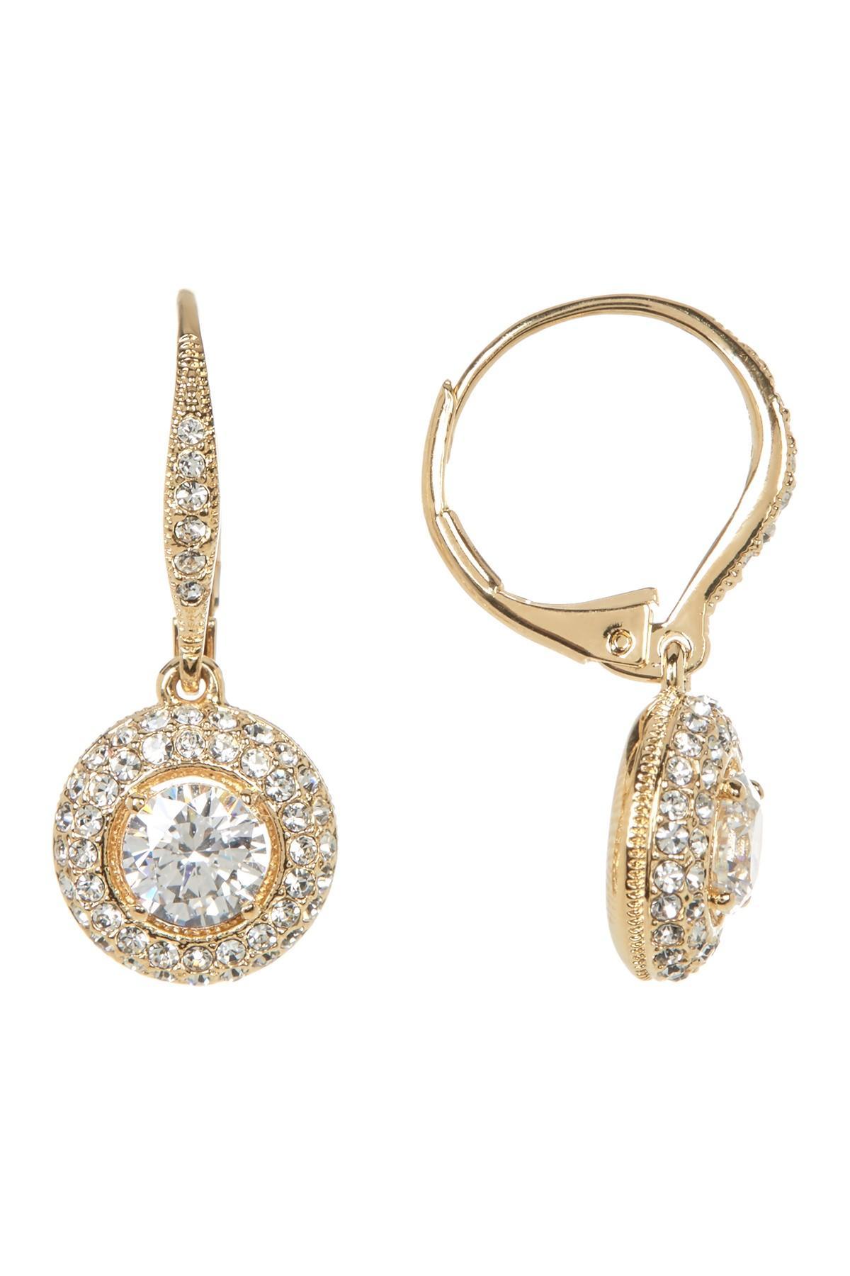 fd3def038 Lyst - Nadri Cz Pave Framed Drop Earrings in Metallic
