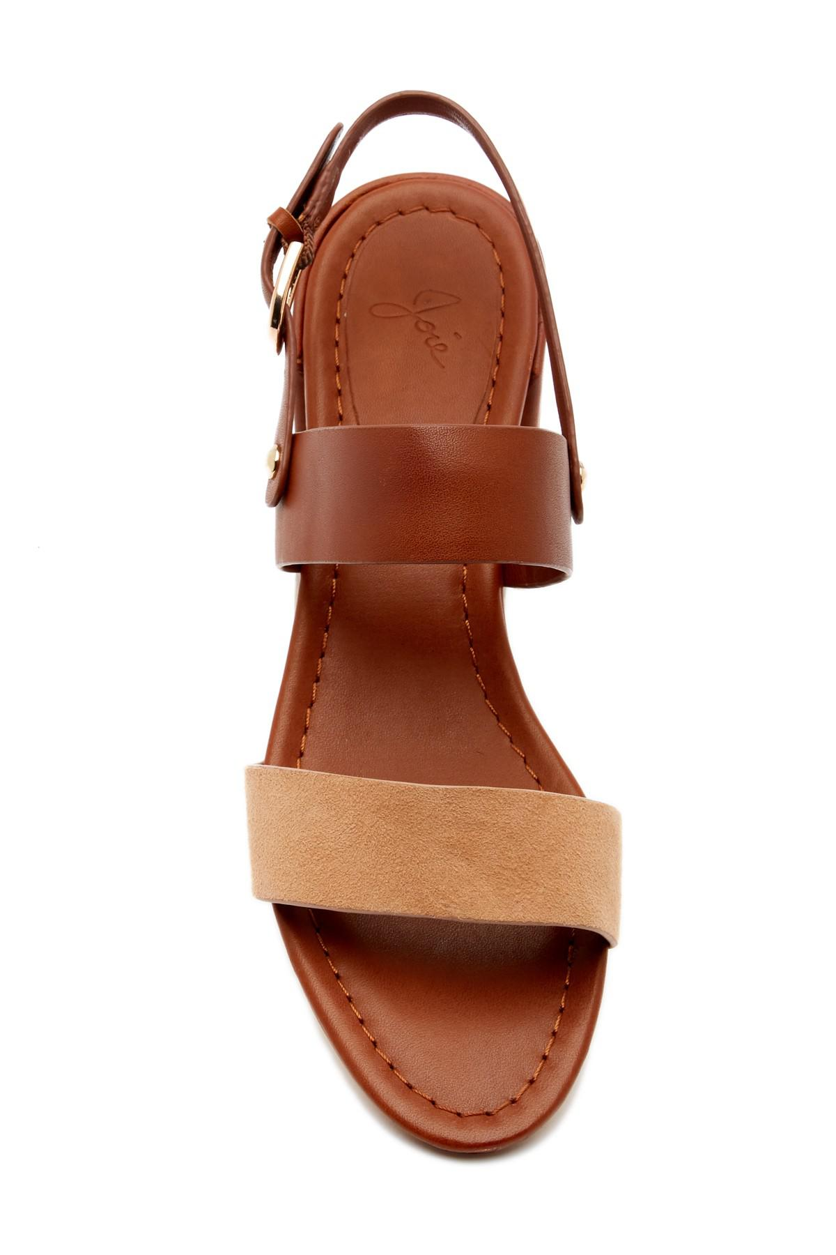 Lyst Joie Rach Leather Sandal In Brown Clarette Wedges Coraline Beige Gallery