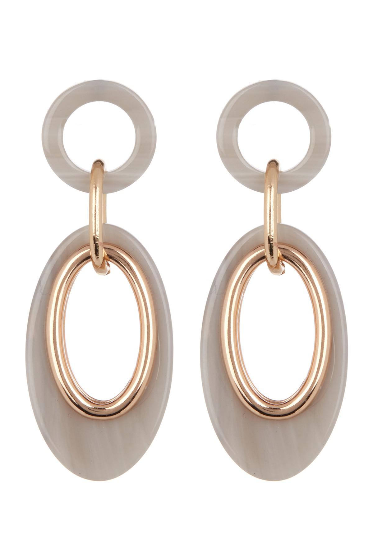 8dd923d1c Vince Camuto. Women's Metallic Resin Link Double Drop Earrings. $15 From Nordstrom  Rack