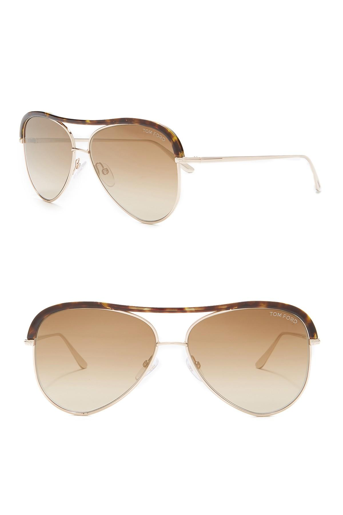 6b3015095ee Tom Ford - Multicolor 60mm Aviator Sunglasses - Lyst. View fullscreen