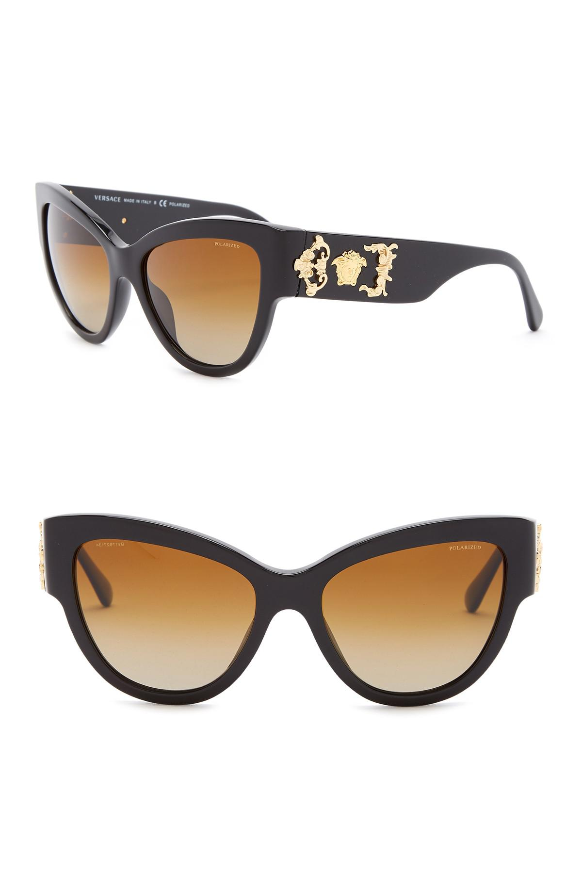 c36ab7bd2cb7 Lyst - Versace Rock Icons Medusa 55mm Sunglasses in Black