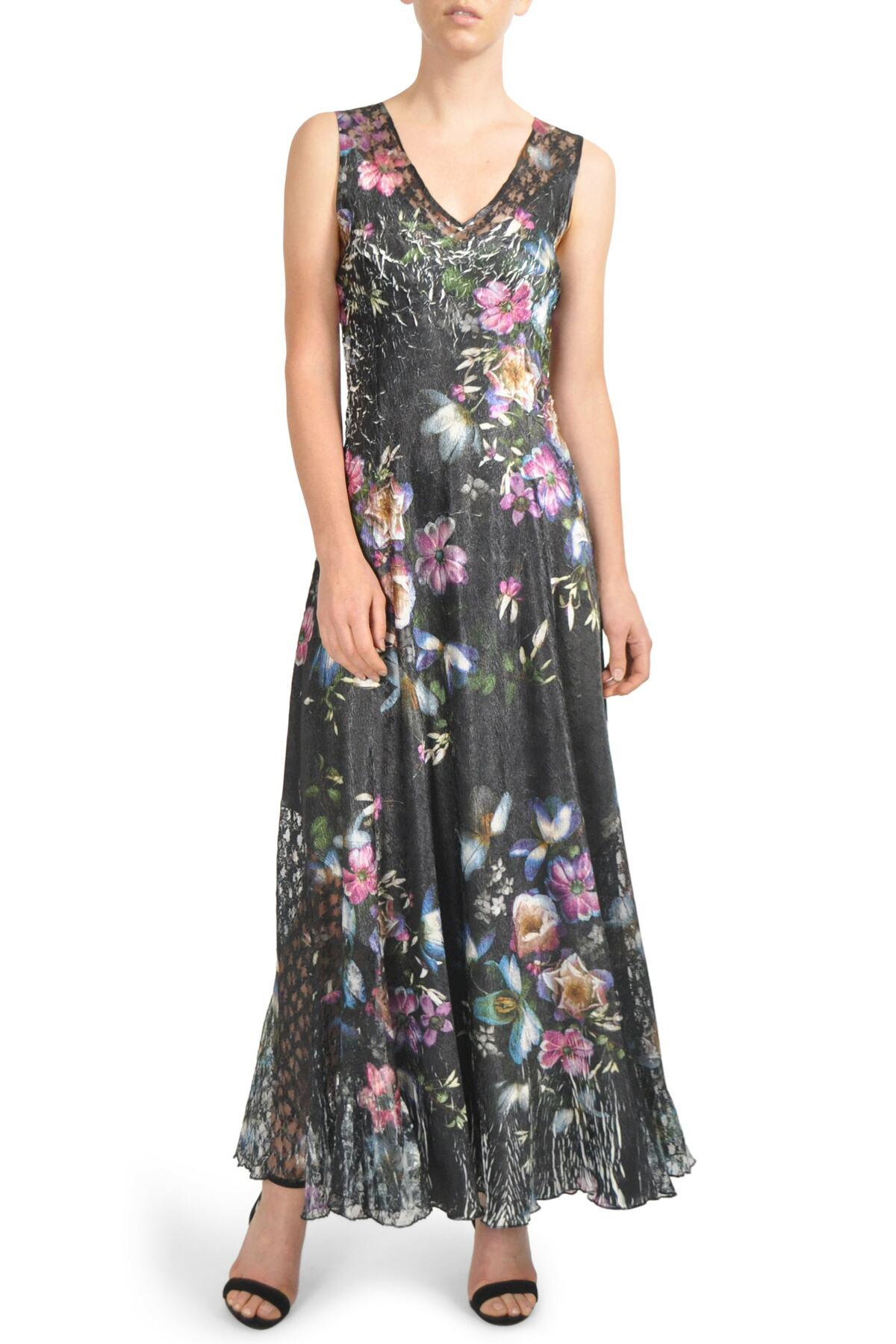 1de86fc40a Komarov. Women s Floral Print Lace-up Gown (regular   Petite)