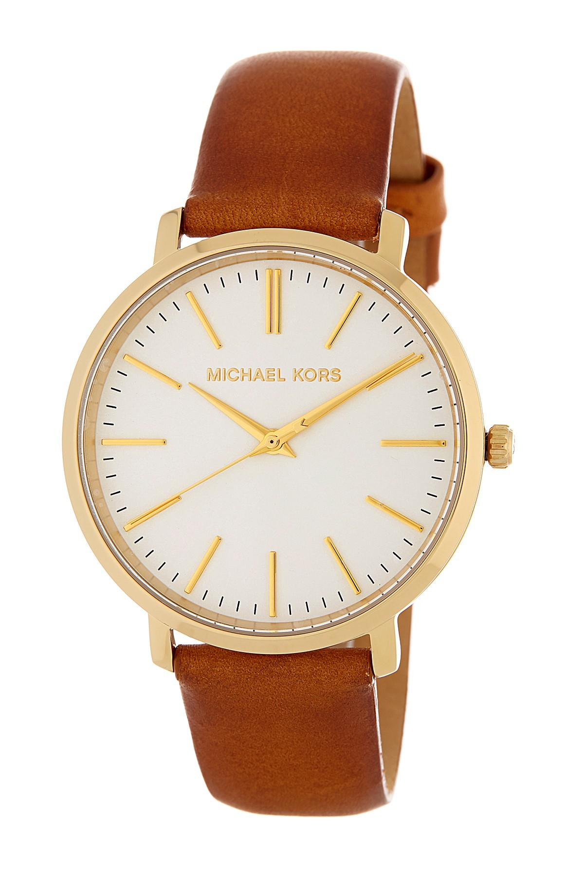 035f7d74cf97 Lyst - MICHAEL Michael Kors Women s Jaryn Leather Strap Watch Set