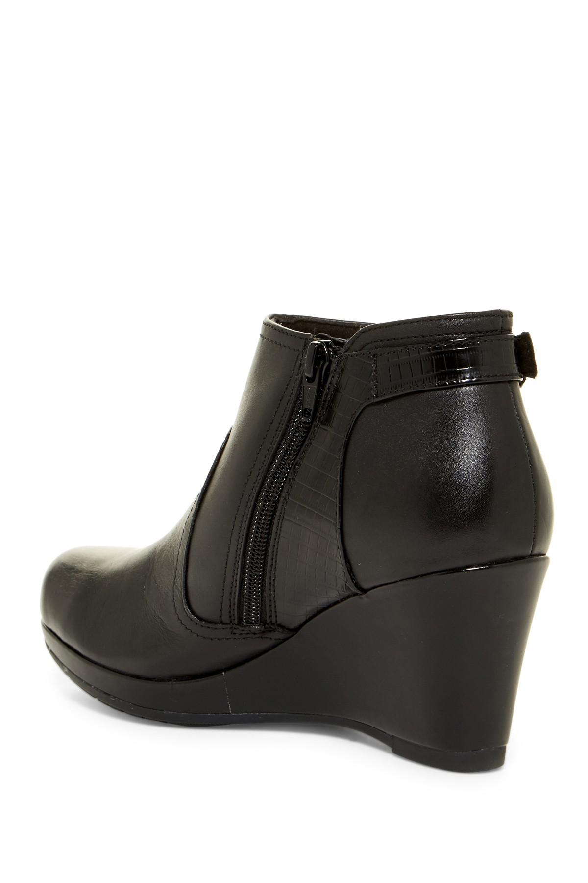 ad29822622a7 Lyst - Clarks Collection Women s Camryn Fiona Wedge Booties in Black
