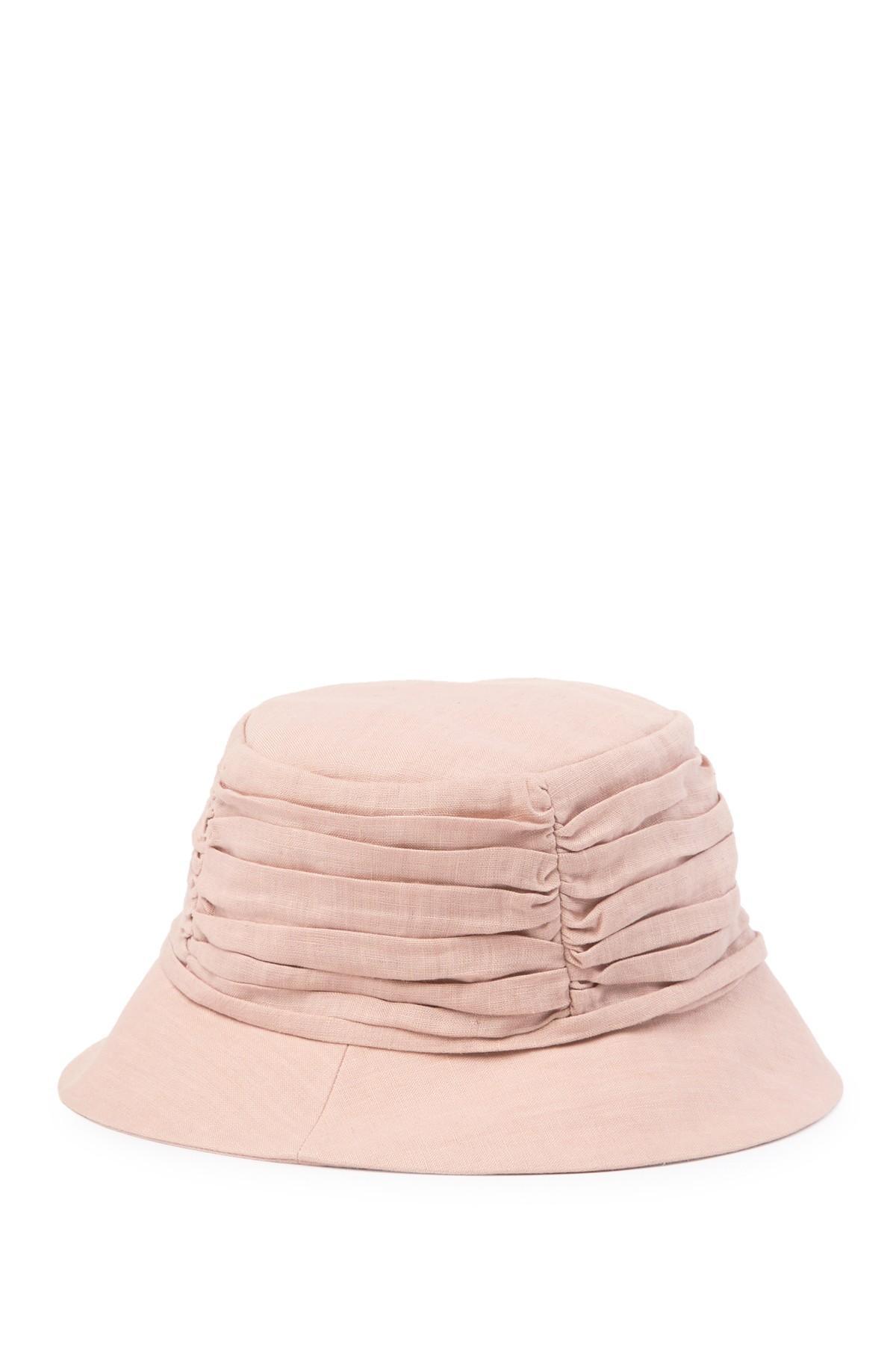Helen Kaminski - Pink Raylyn Gathered Bucket Hat - Lyst. View fullscreen 2c7b1b1f3e70