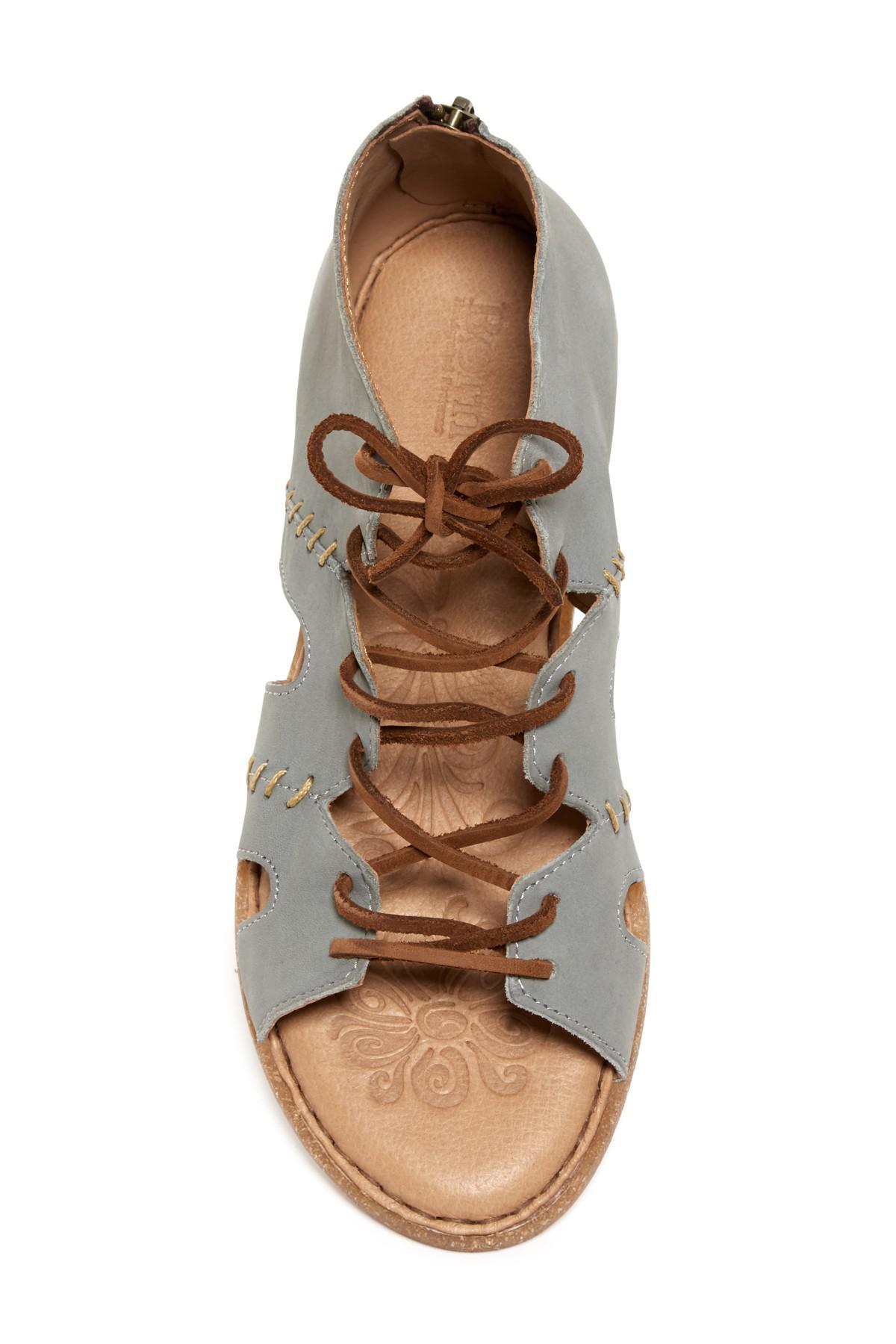 5bbb5a78b74e Lyst - Born Nea Nubuck Gladiator Sandal in Gray