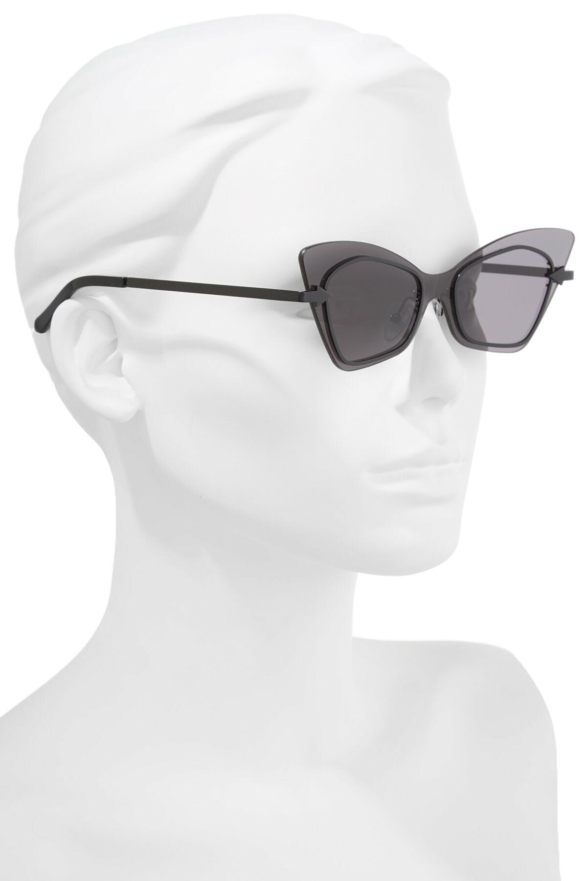 c6dc5eb028f7 Karen Walker - Black Mrs. Brill 53mm Cat Eye Sunglasses - Lyst. View  fullscreen