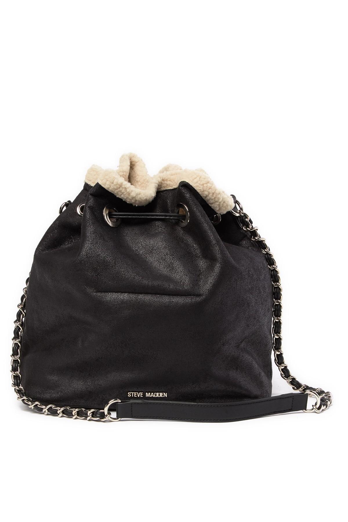 b3a0d0d8af Steve Madden - Natural Bucket Faux Fur Lined Shoulder Bag - Lyst. View  fullscreen