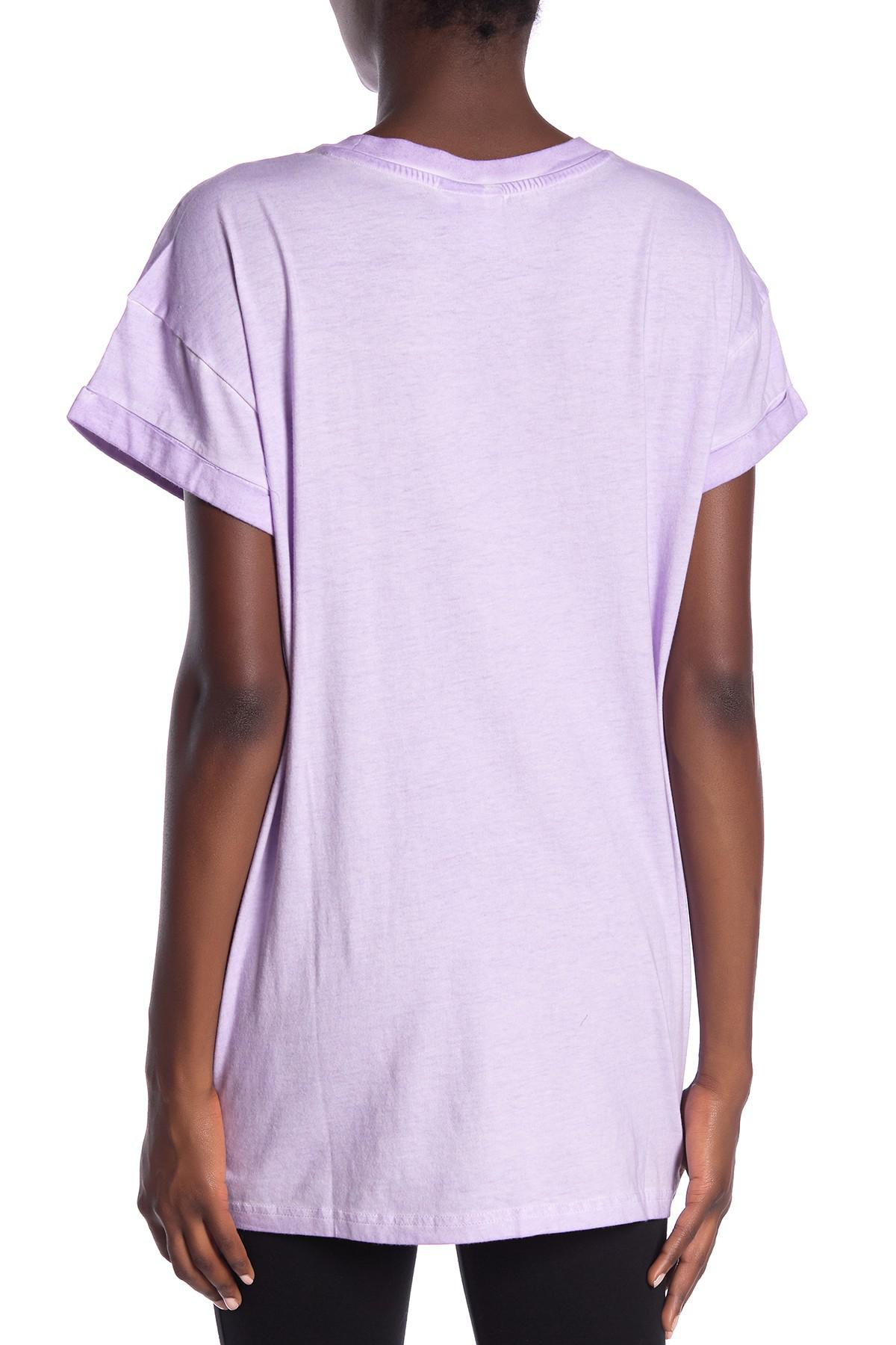 a77b6e085c7 Lyst - adidas Loose Boyfriend Tee in Purple