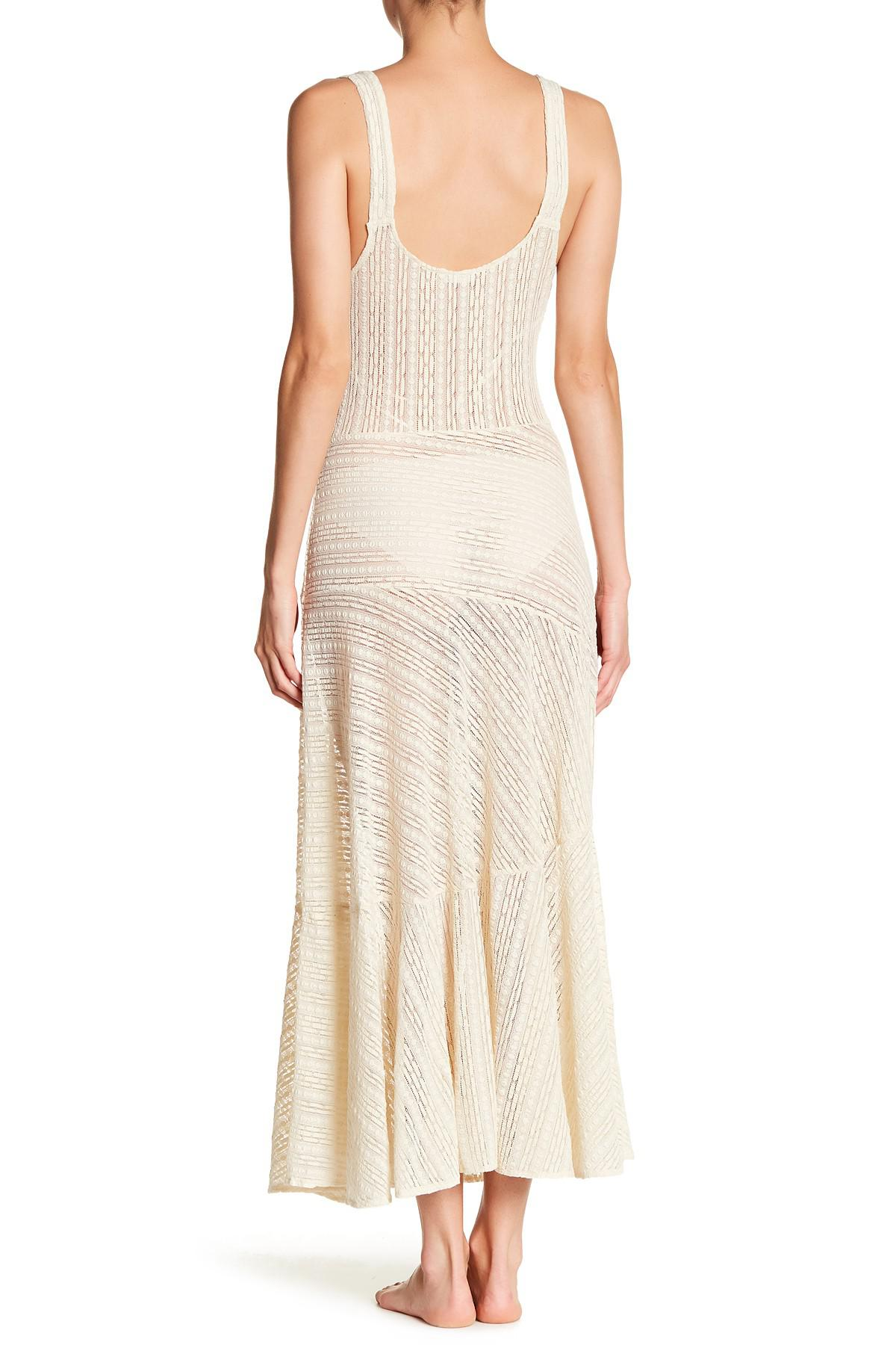 a36a5903e3a0 Free People Love Story Maxi Slip Dress in White - Lyst