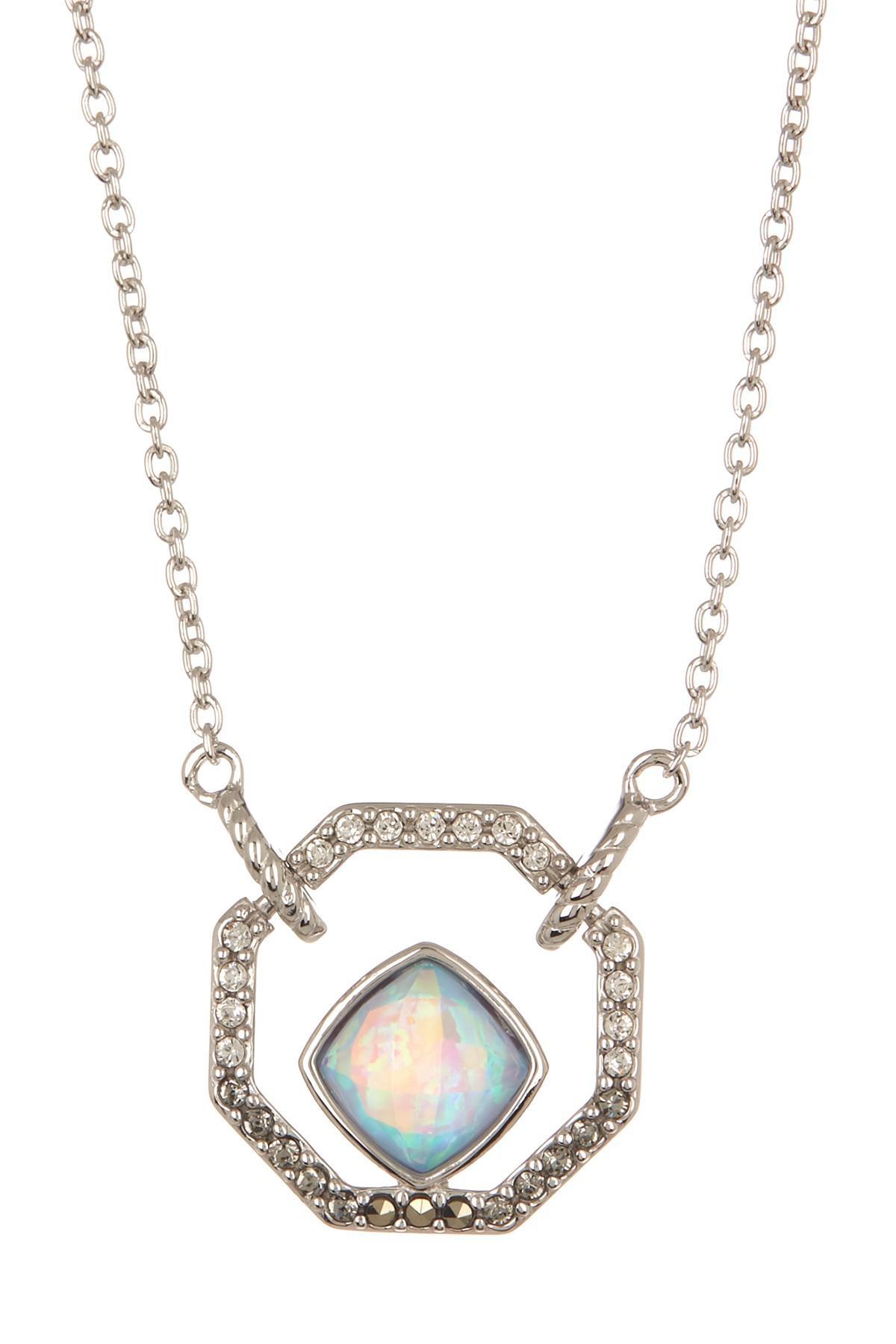 210e29391 Lyst - Judith Jack Sterling Silver Swarovski Crystal & Opal Pendant ...