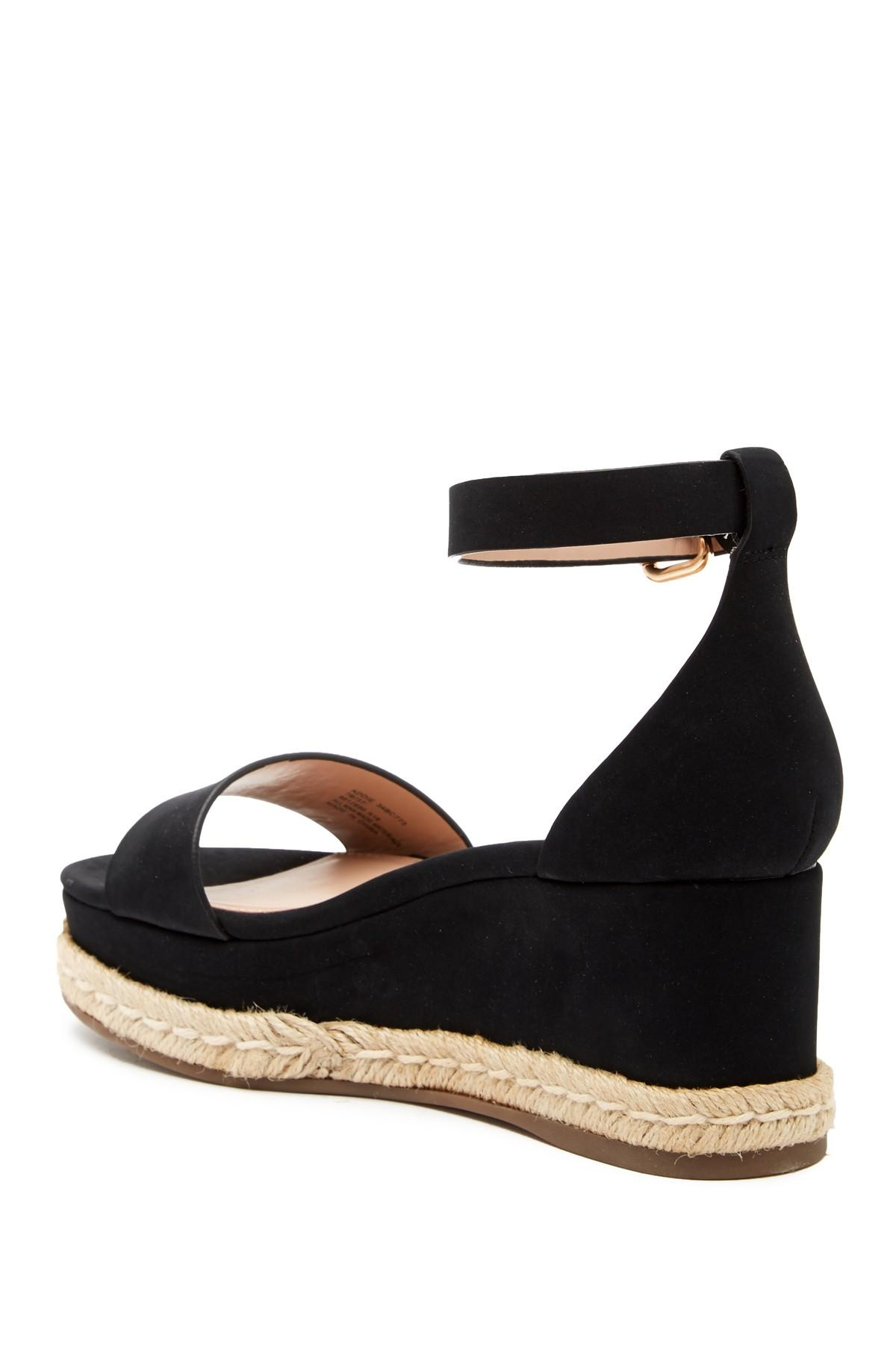 afbb1cbdf82 BCBGeneration - Black Addie Espadrille Wedge Sandals - Lyst. View fullscreen