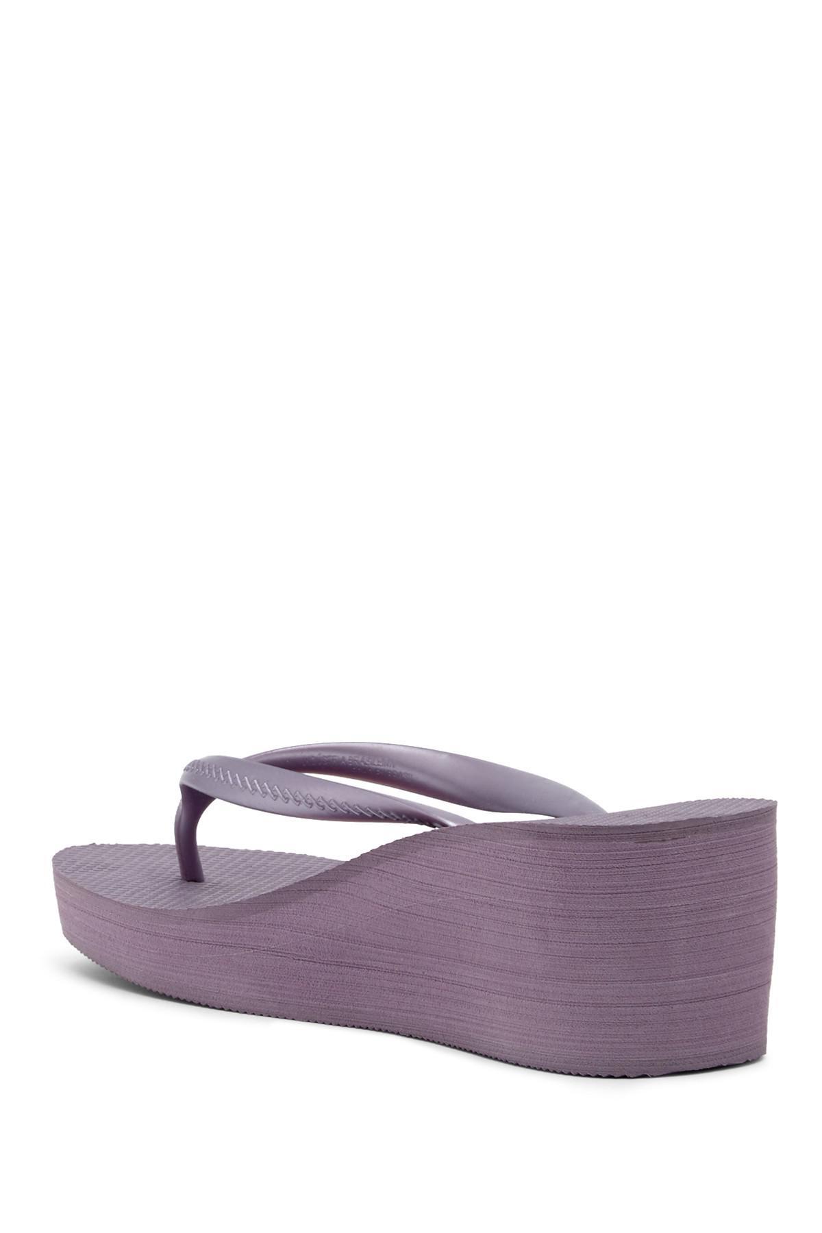 56105600d7067f Lyst - Havaianas High Fashion Platform Wedge Flip Flop Sandal (women ...
