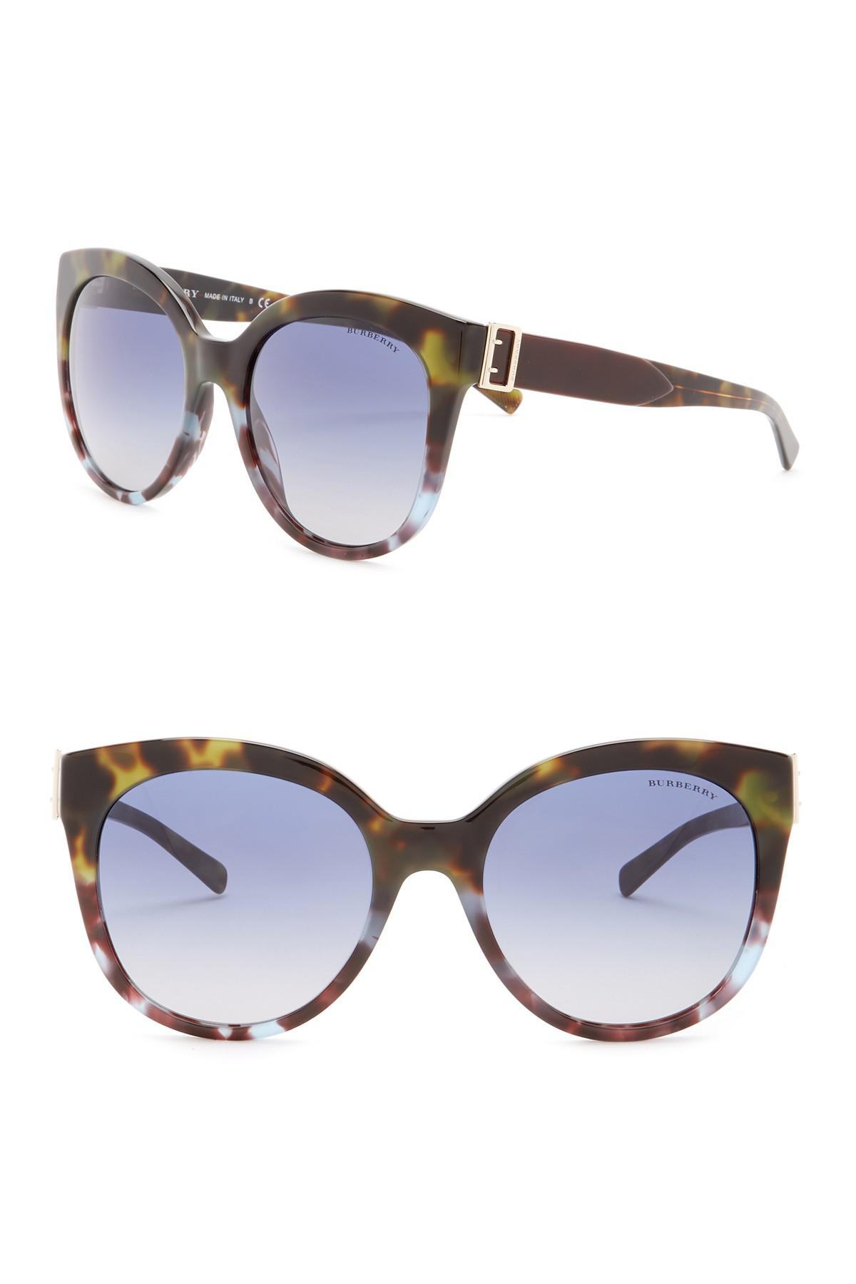 af3e74714b Burberry - Multicolor 55mm Cat Eye Sunglasses - Lyst. View fullscreen