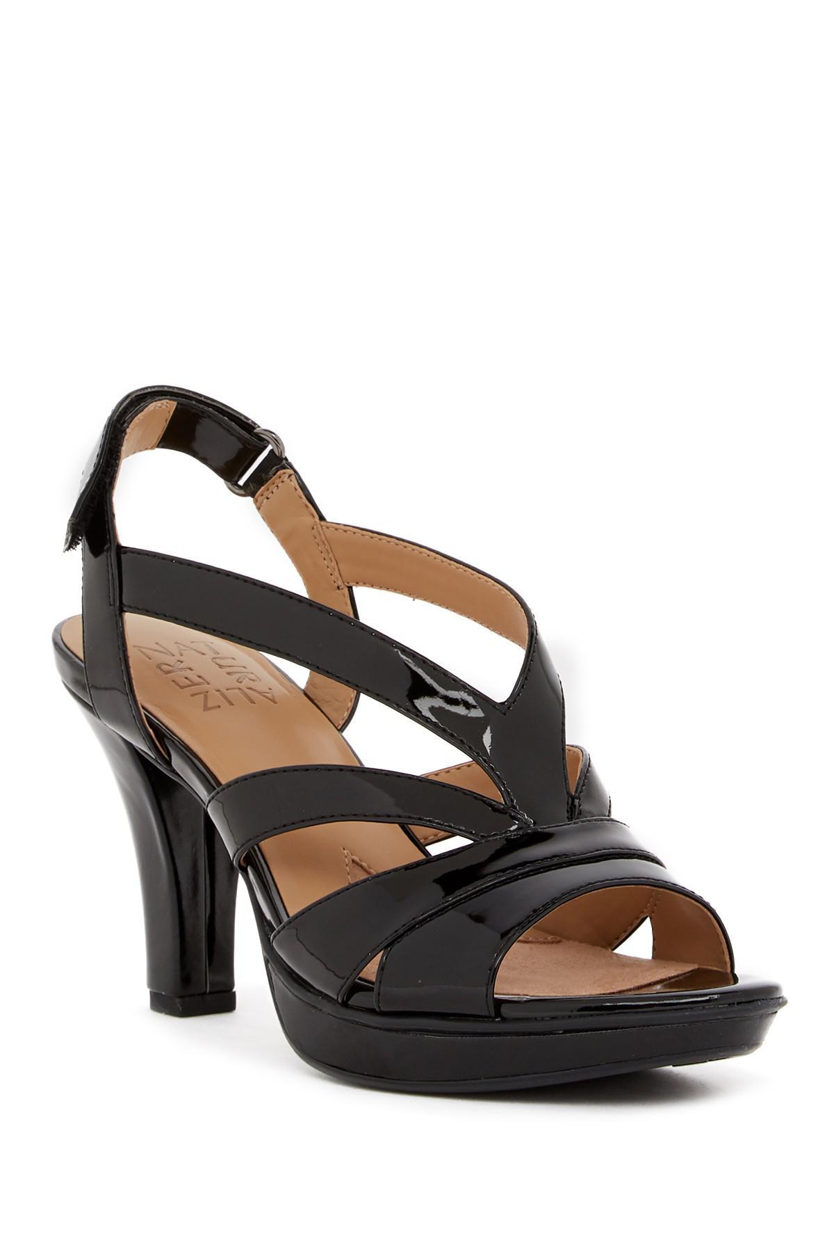 c3c88c0504d4 Lyst - Naturalizer Delfinia Leather Heel Sandal - Wide Width ...