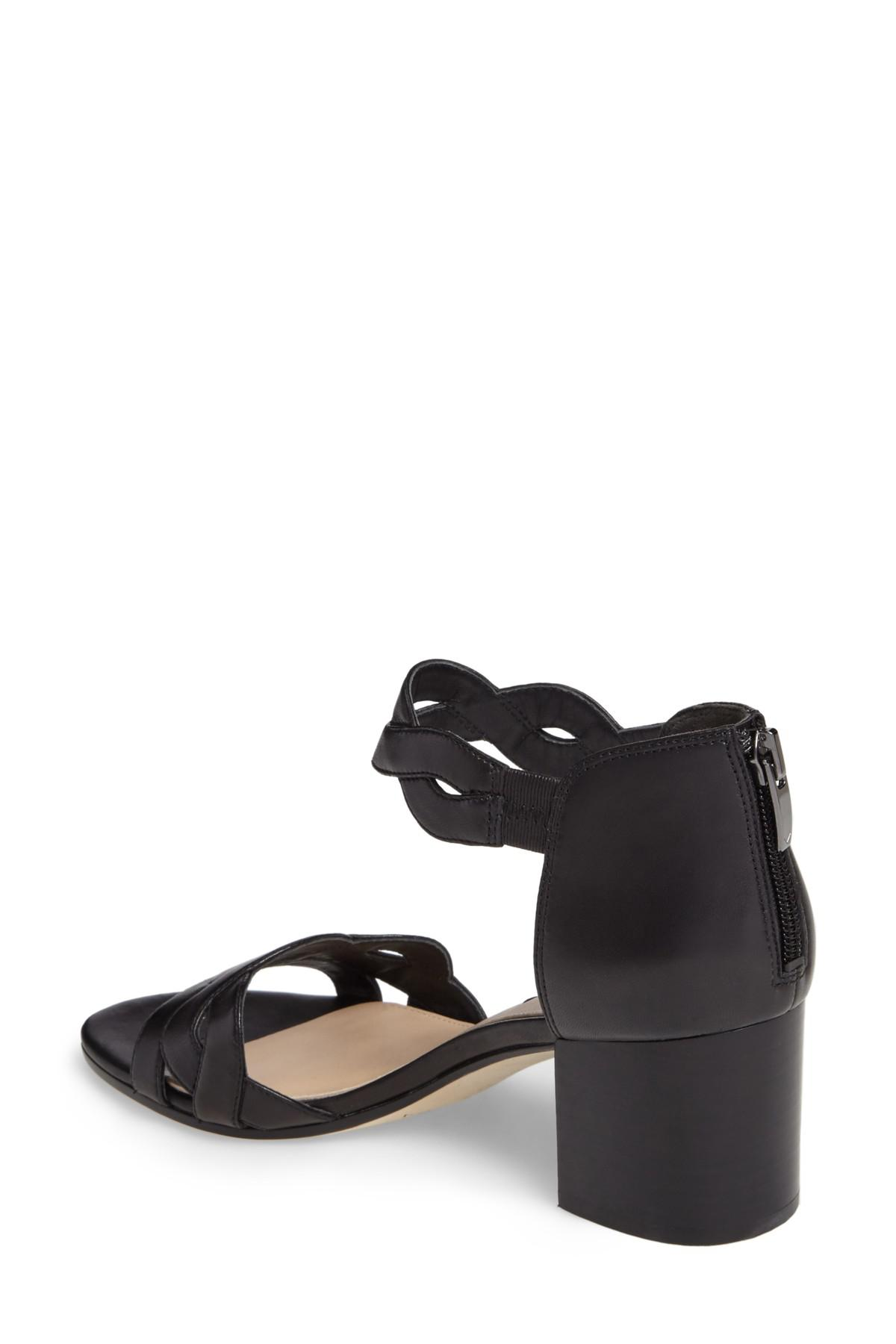 fbe300961c83 Lyst - Via Spiga Janel Block Heel Sandal in Black