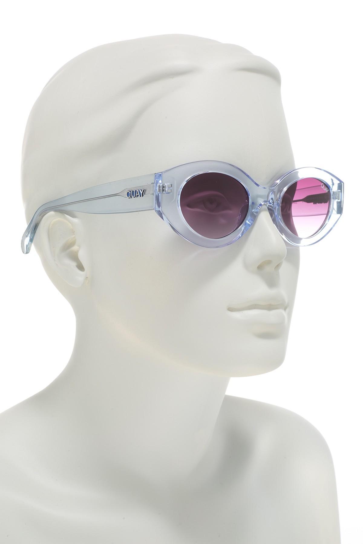 190ecf8d73cdf Quay - Multicolor See Me Smile 50mm Sunglasses - Lyst. View fullscreen