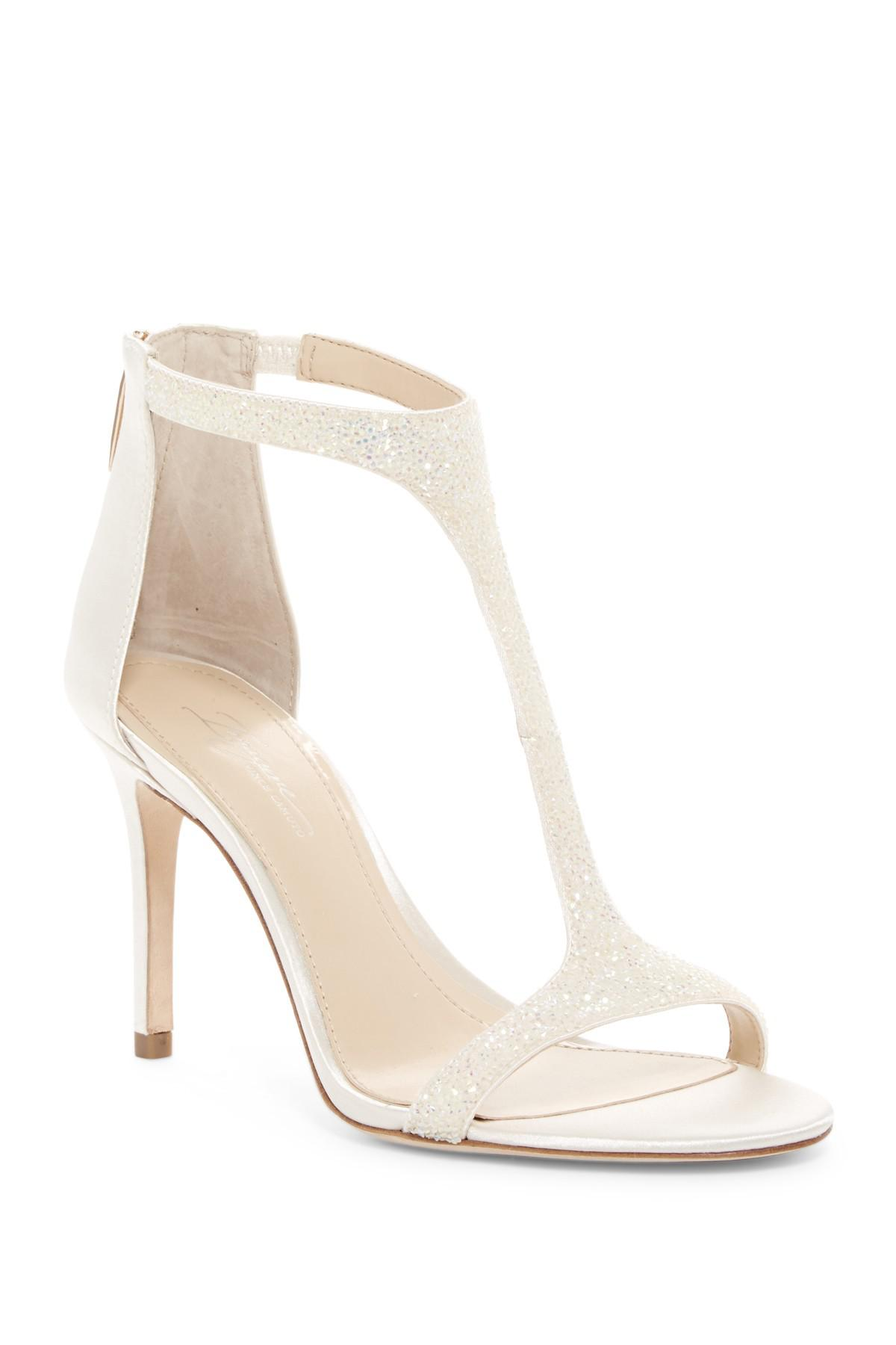 ab5722be1fd Lyst - Imagine Vince Camuto Phoebe Embellished Leather T-strap ...