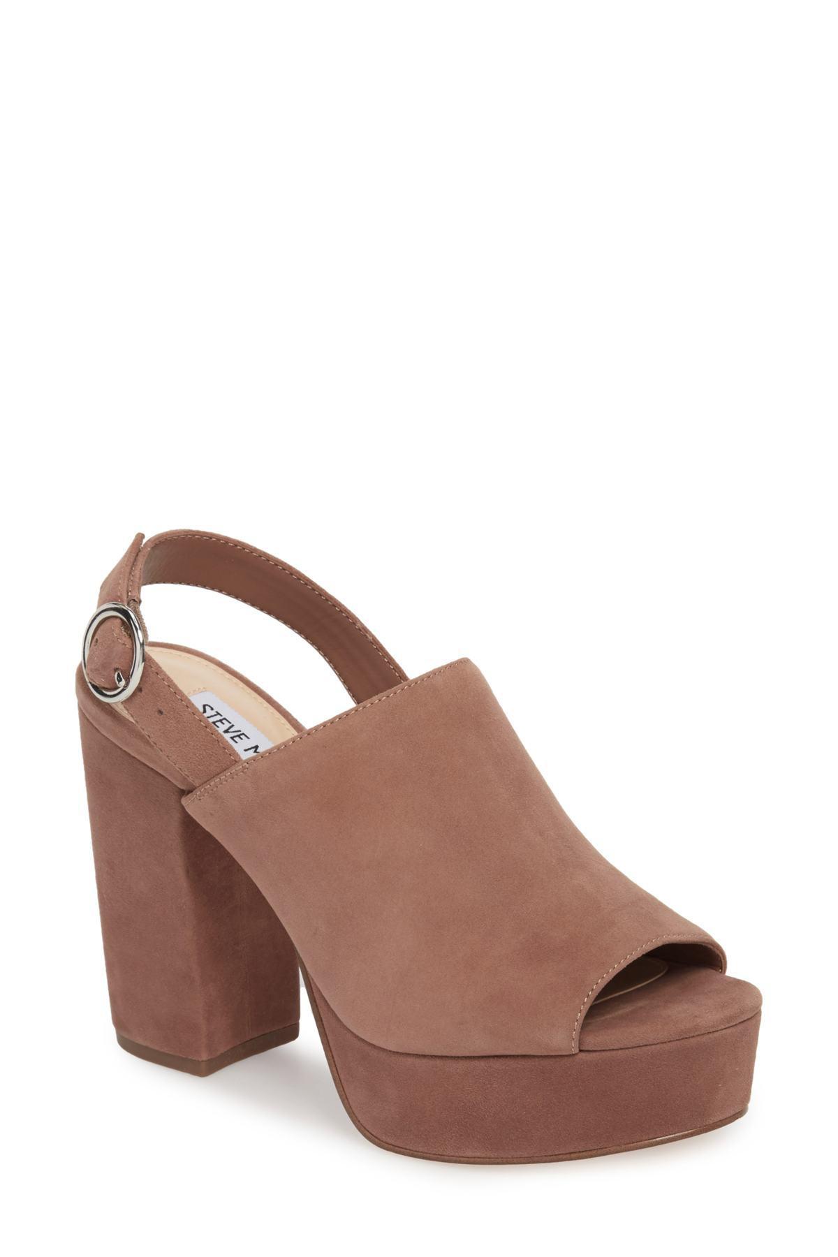 e0b5931563be Steve Madden Carter Slingback Platform Sandal (women) in Brown ...