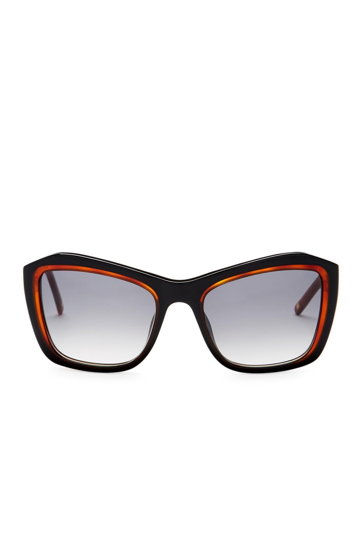 6d86402377 Lyst - Escada Women s Oversized Sunglasses in Brown
