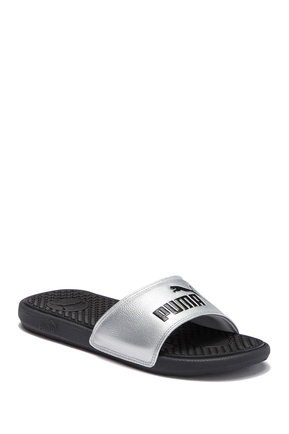 40f584f37 Lyst - PUMA Cool Cat Slide Sandal in Black