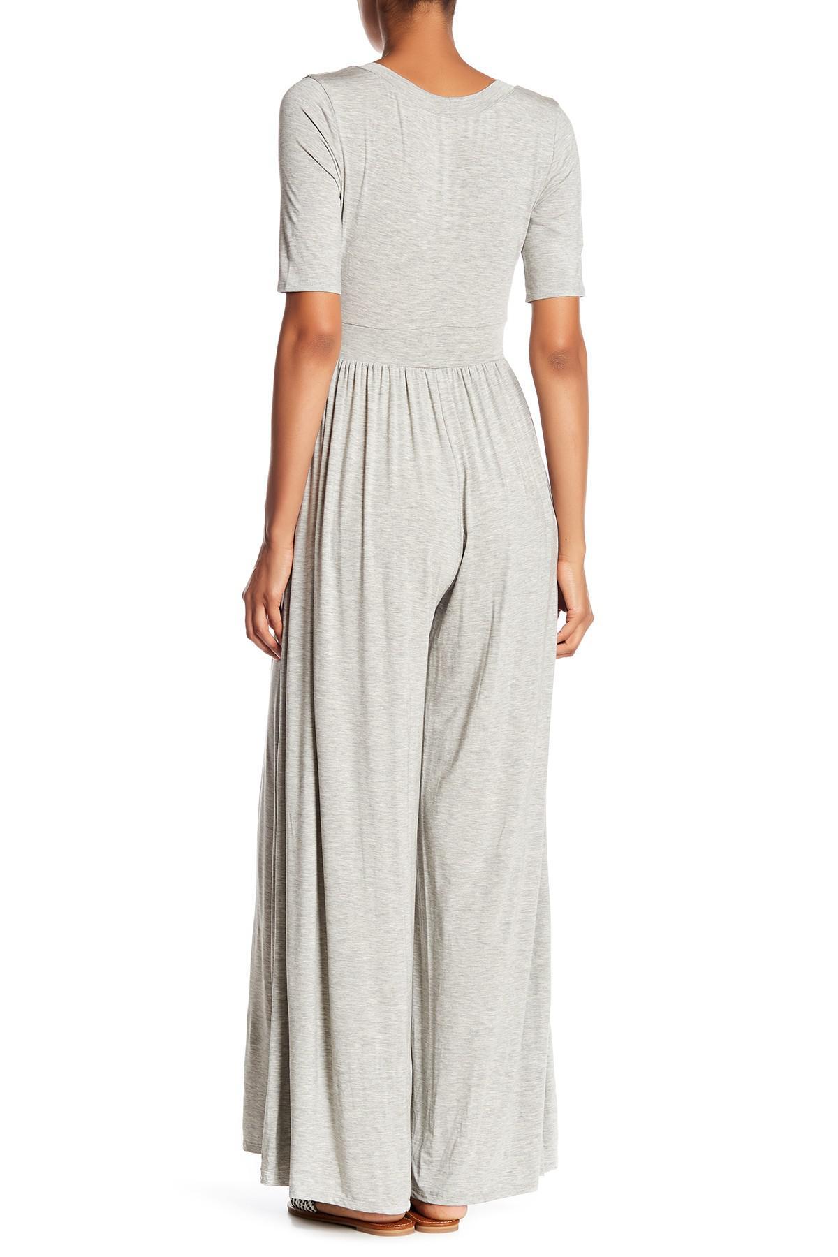 833251c2a329 West Kei - Gray Knit Wide Leg Jumpsuit - Lyst. View fullscreen