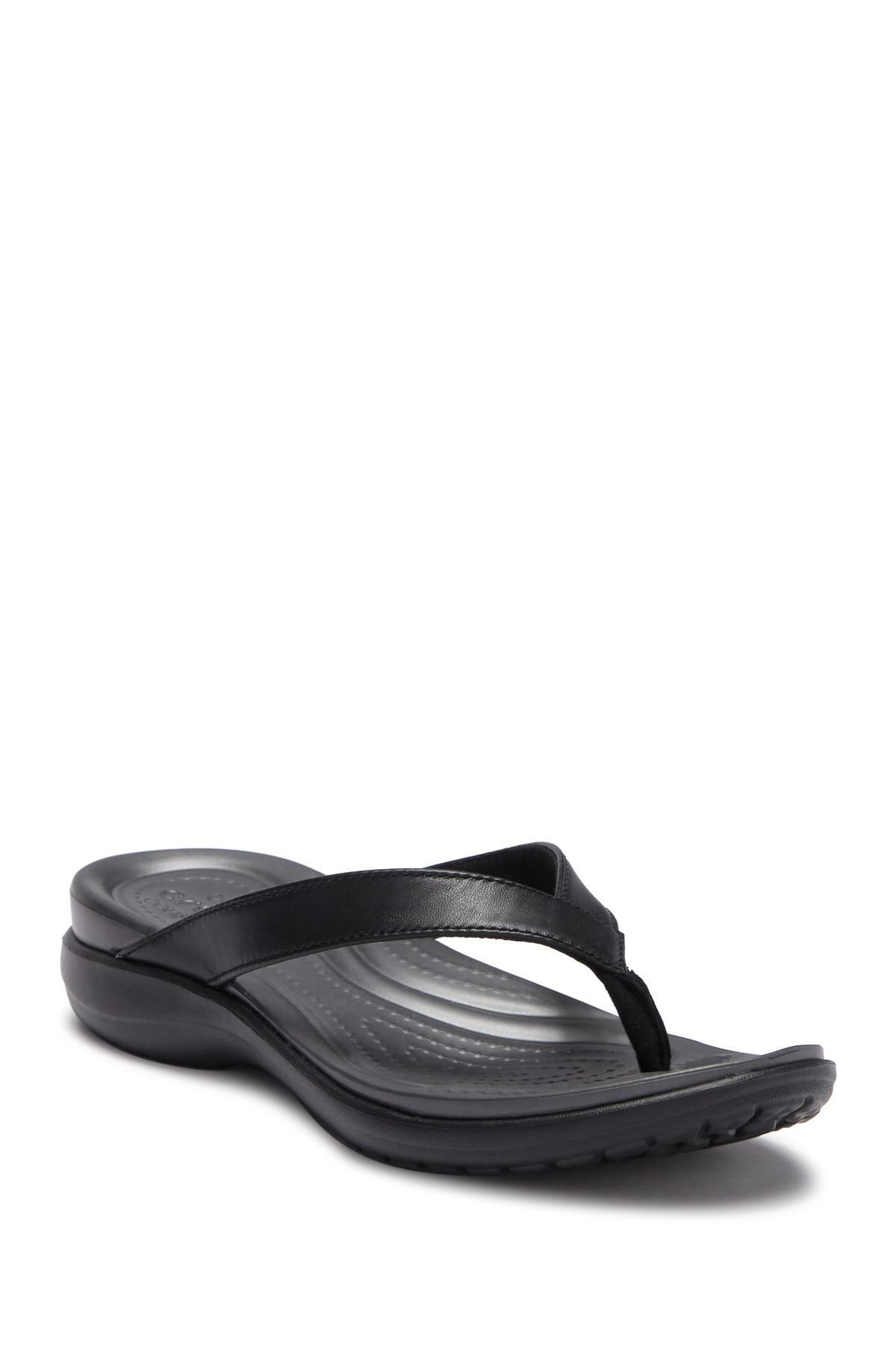 0f81ec2ceaba Lyst - Crocs™ Capri V Flip Flop Sandal in Black