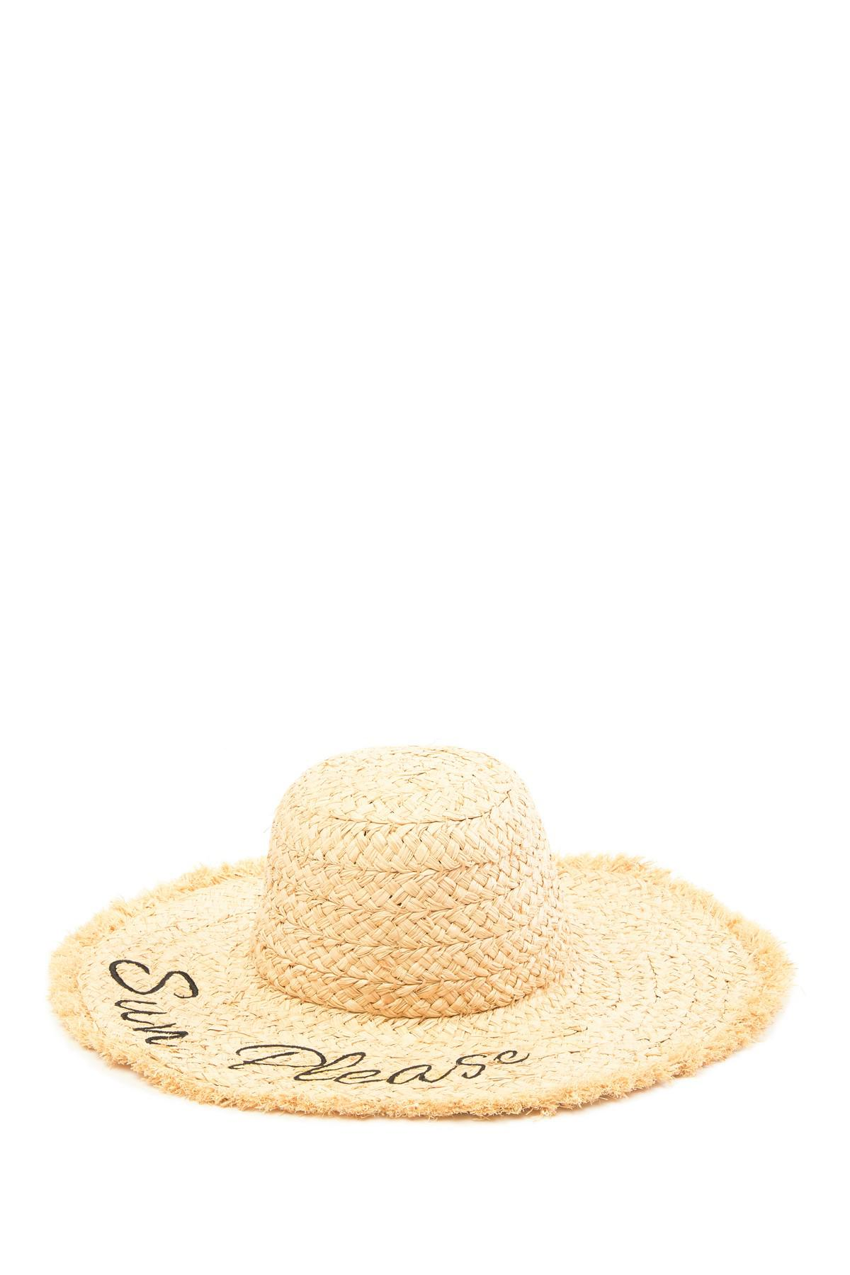 0c639dc012a53 Roffe Accessories Sun Please Straw Boater Hat in Natural - Lyst