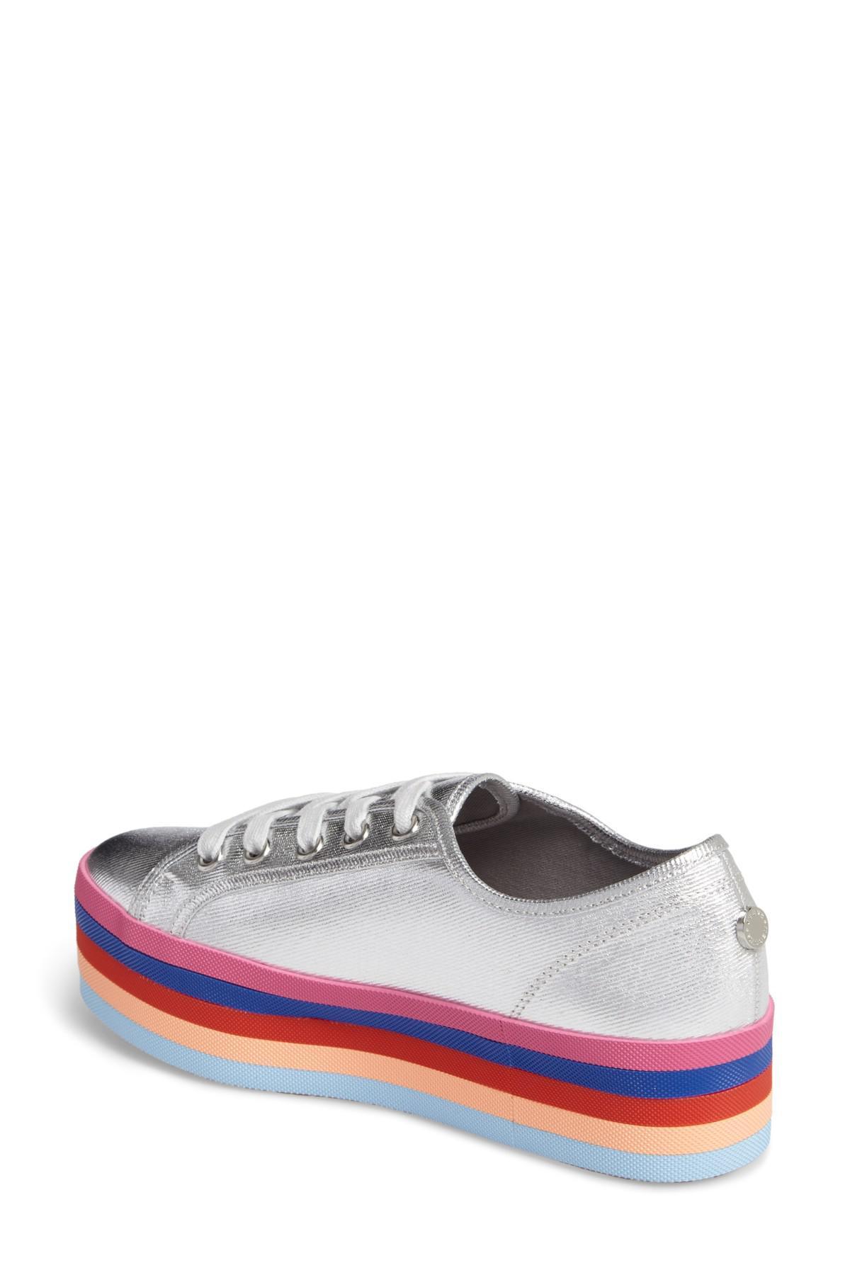 253d31be373 Lyst - Steve Madden Rainbow Stacked Platform Sneaker in Metallic