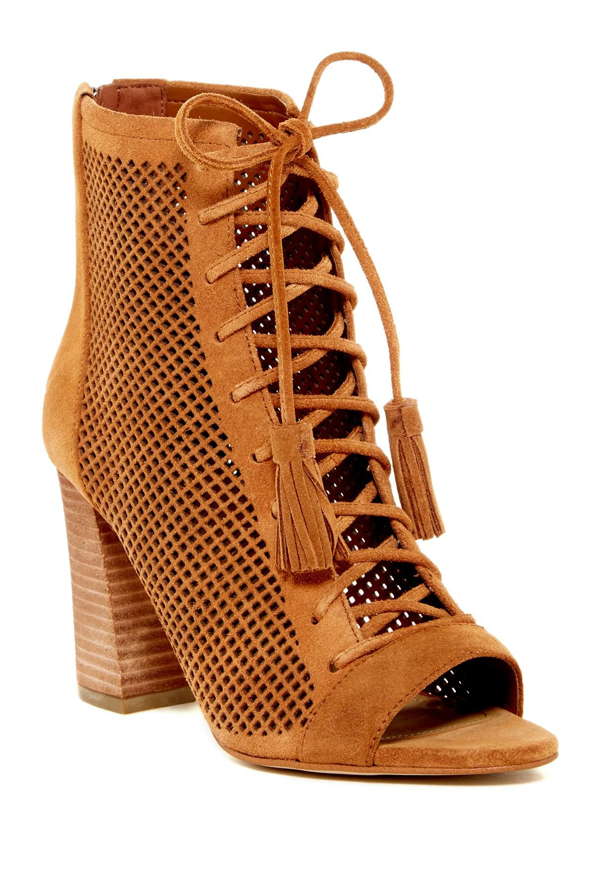Lyst Marc Fisher Shaini Ankle Bootie In Brown