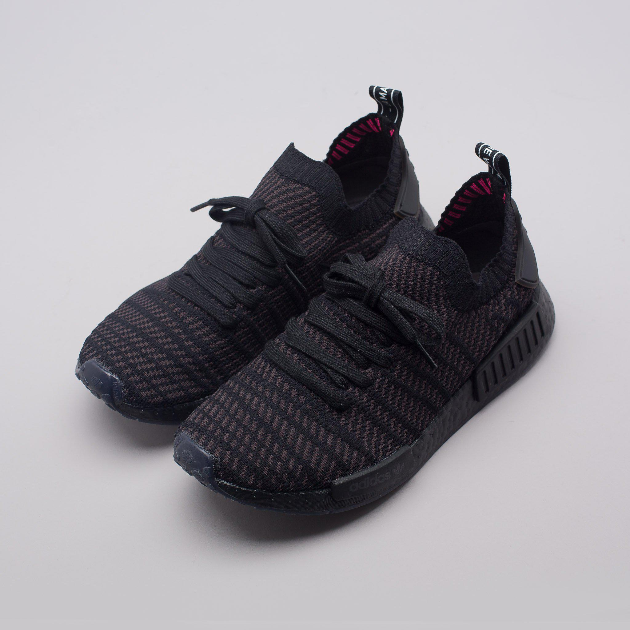 9b53c5c0c Lyst - adidas Nmd R1 Stlt Primeknit In Triple Black in Black for Men