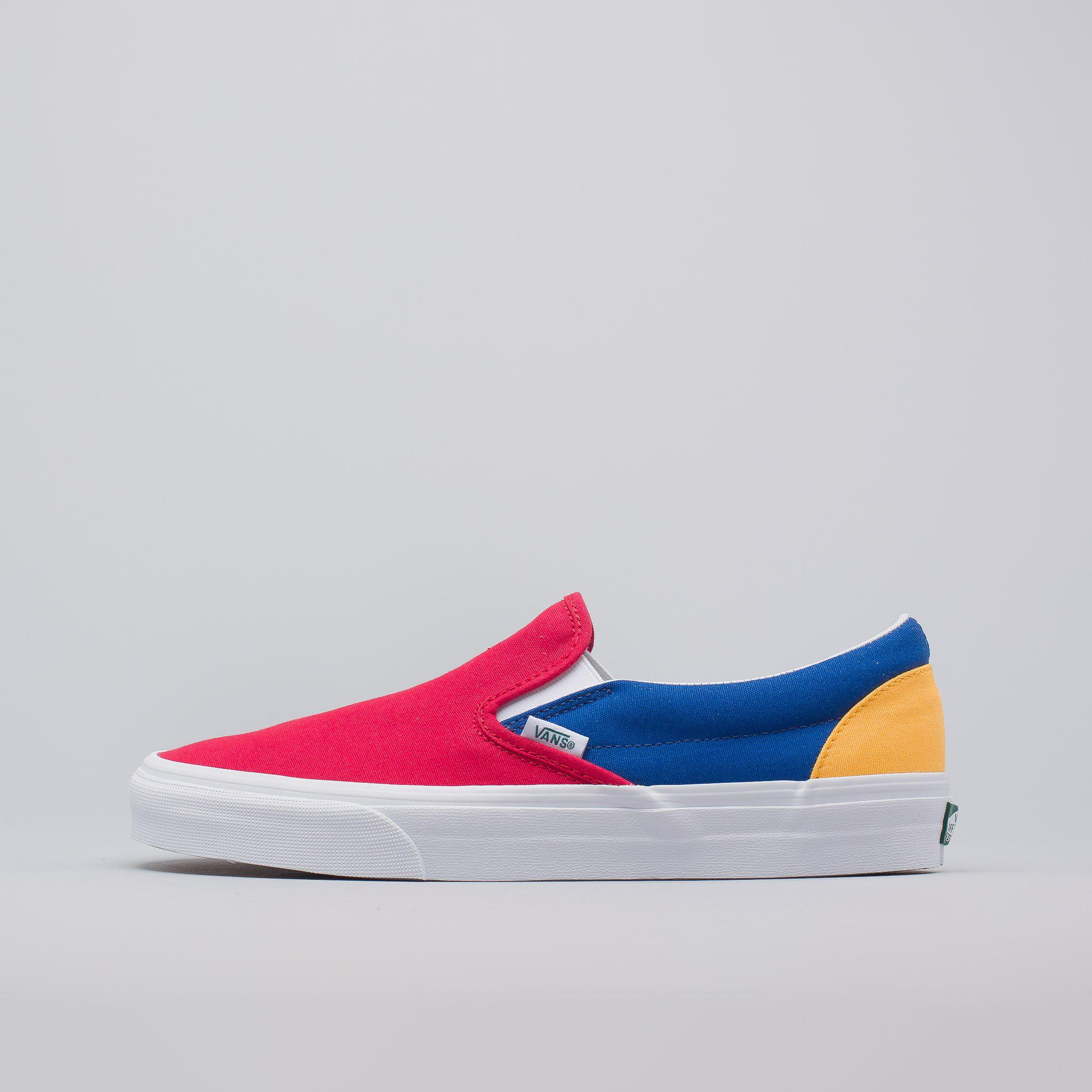 6b1f994fac Lyst - Vans Yacht Club Classic Slip-on In Red blue yellow in Blue ...