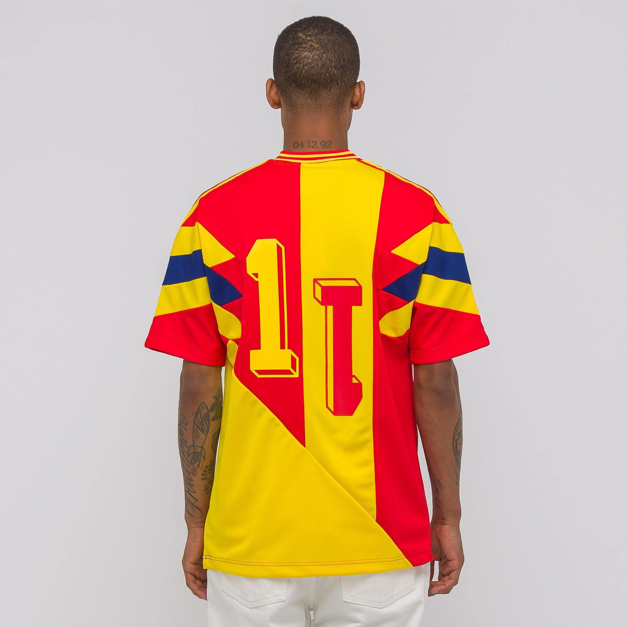 a1d968f3c adidas Colombia Mashup Jersey in Yellow for Men - Lyst