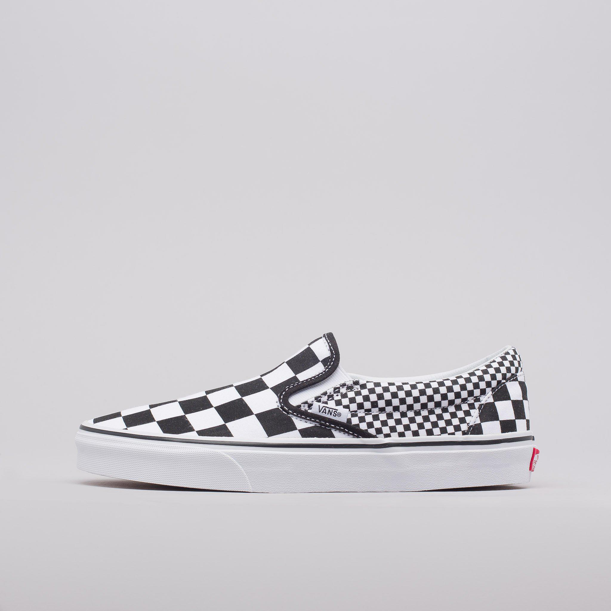 b662d2d5c8 Lyst - Vans Classic Slip-on In Checkerboard Mix in White for Men