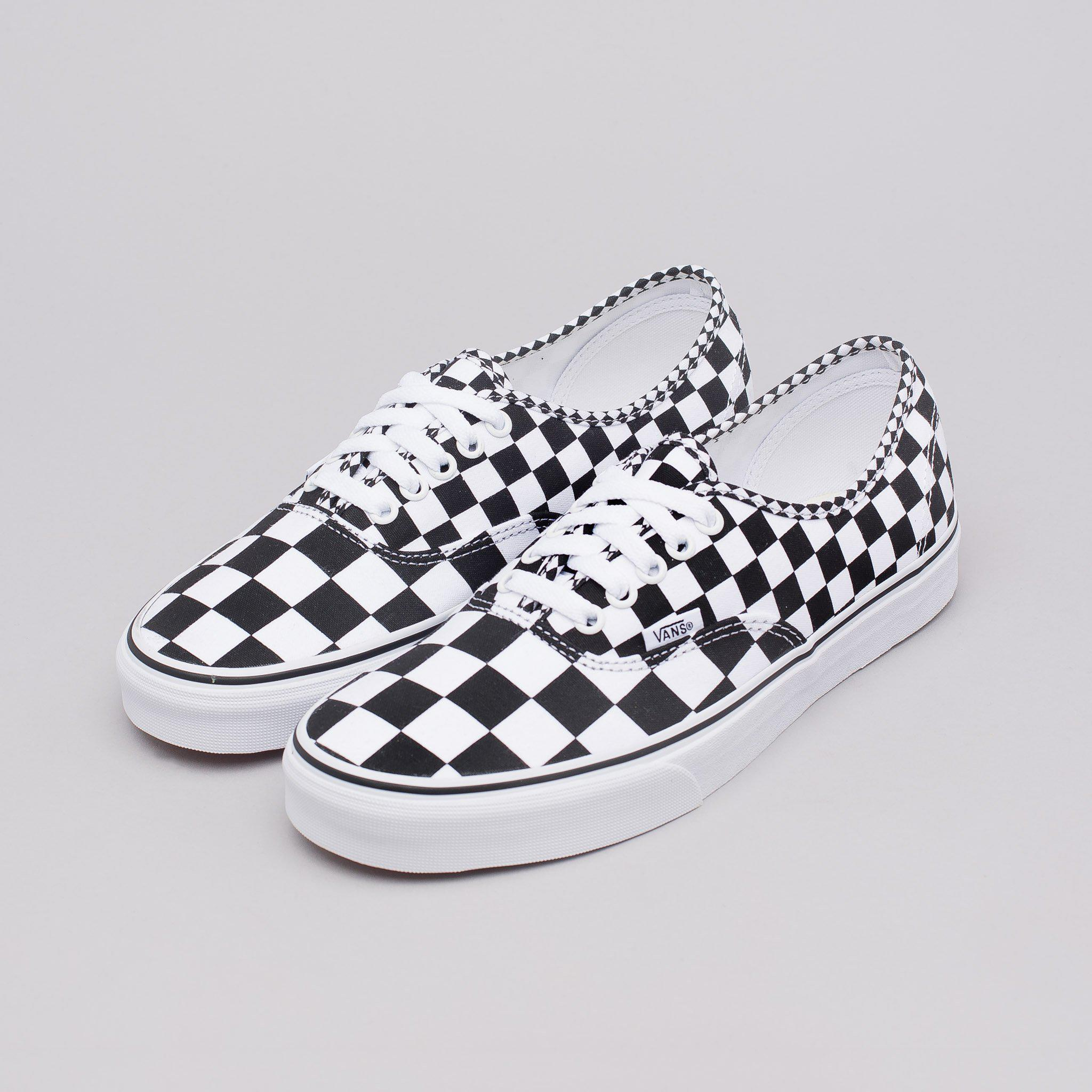 Lyst - Vans Mix Checker Authentic Shoes in White for Men c8a5fc1f9