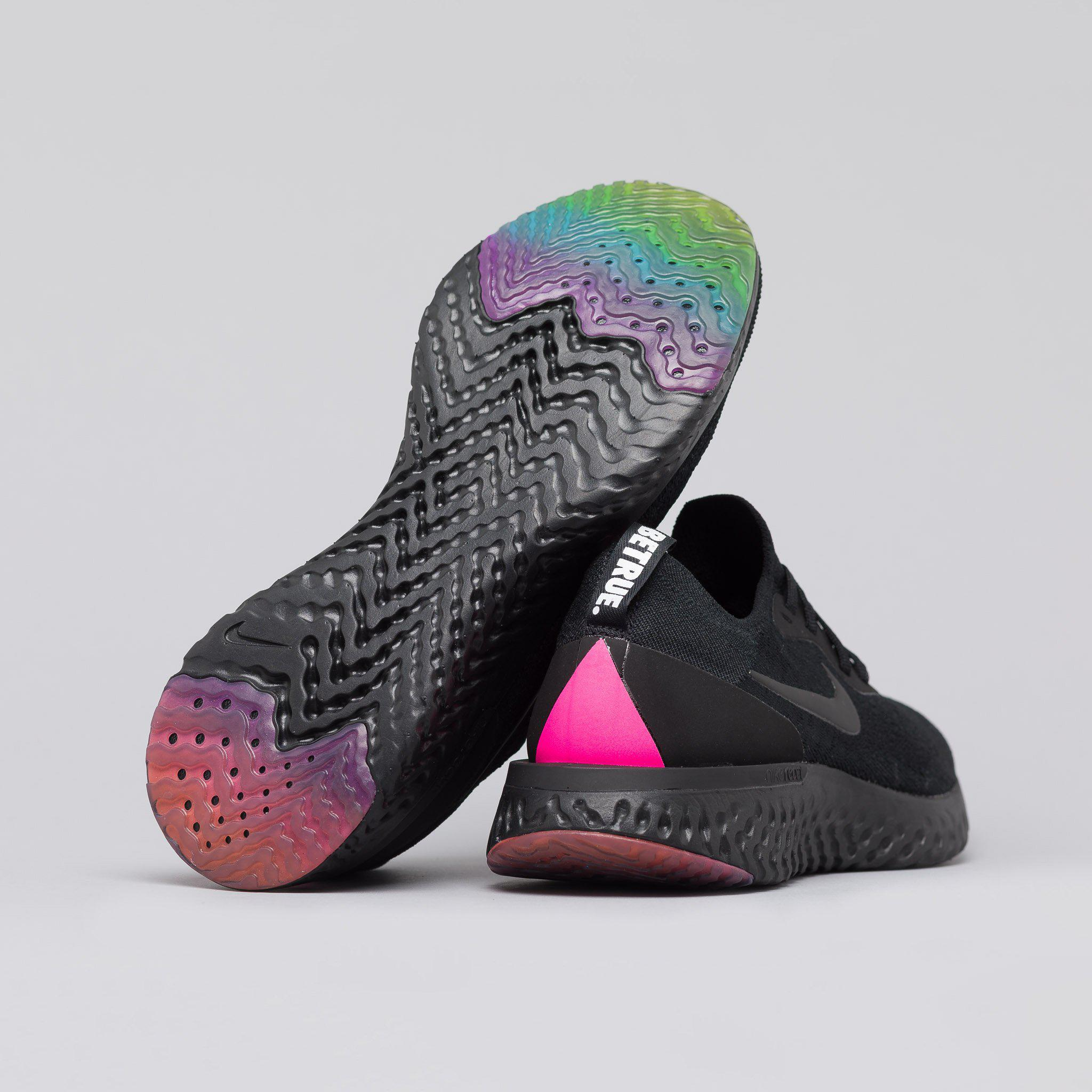 a48a7b40ab79 Lyst - Nike Epic React Flyknit Betrue In Black pink in Black for Men
