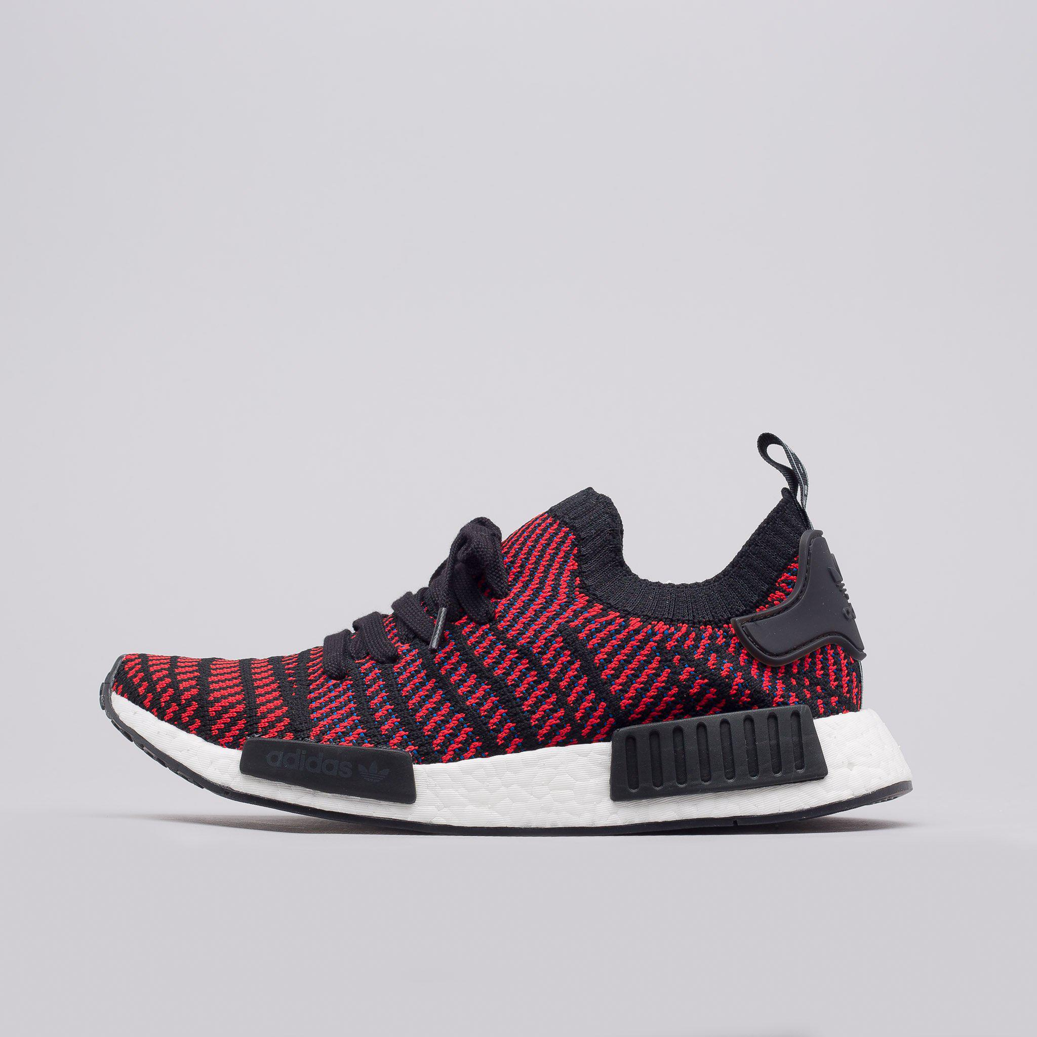 Lyst - adidas Nmd R1 Primeknit Stlt In Core Black red blue in Red ... 6d433aaec