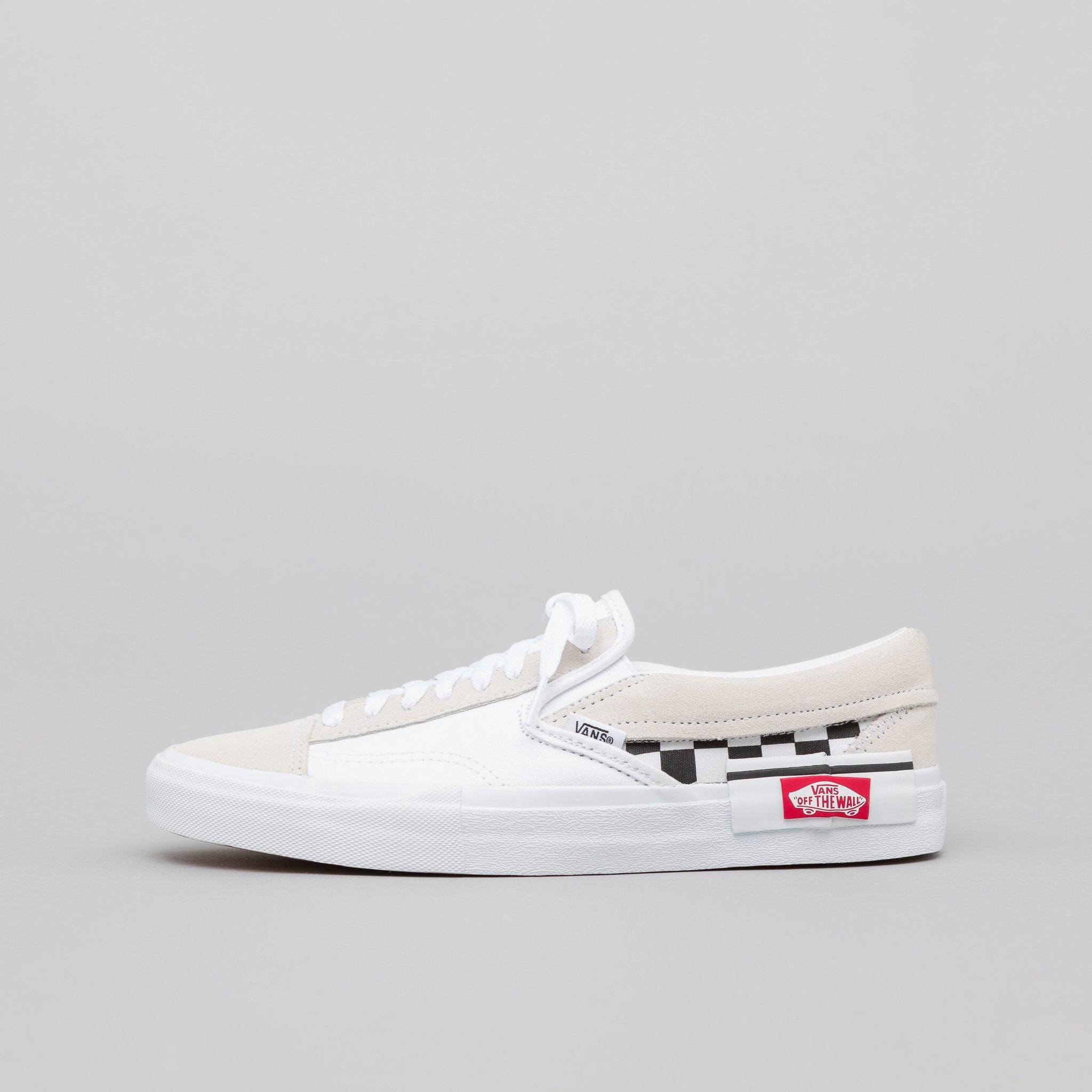 5dd1278c11 Lyst - Vans Slip-on Cap Checkerboard In True White black in White ...