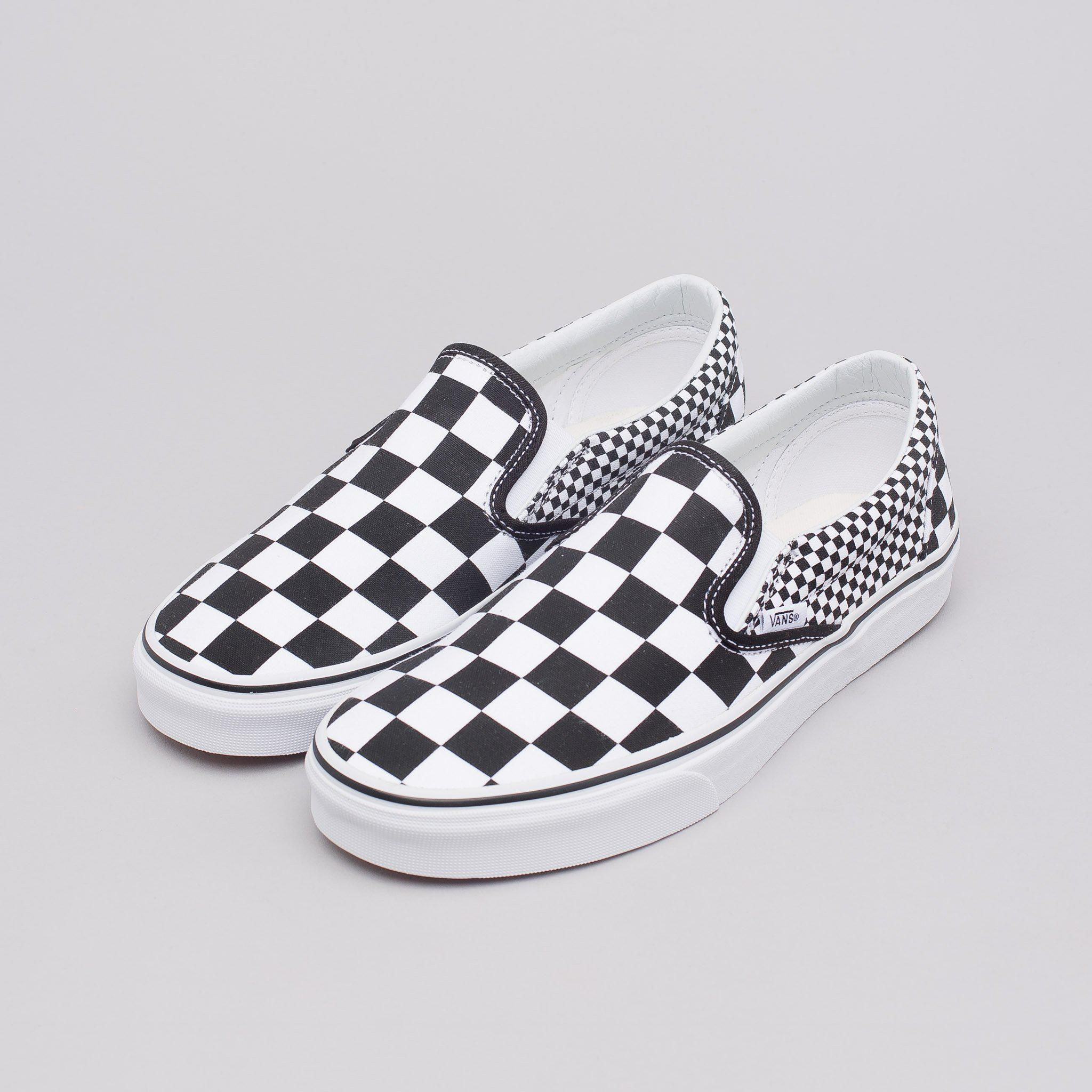 0bb280aed09 Lyst - Vans Classic Slip-on In Checkerboard Mix in White for Men