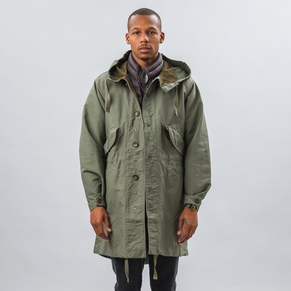 Engineered garments highland parka olive