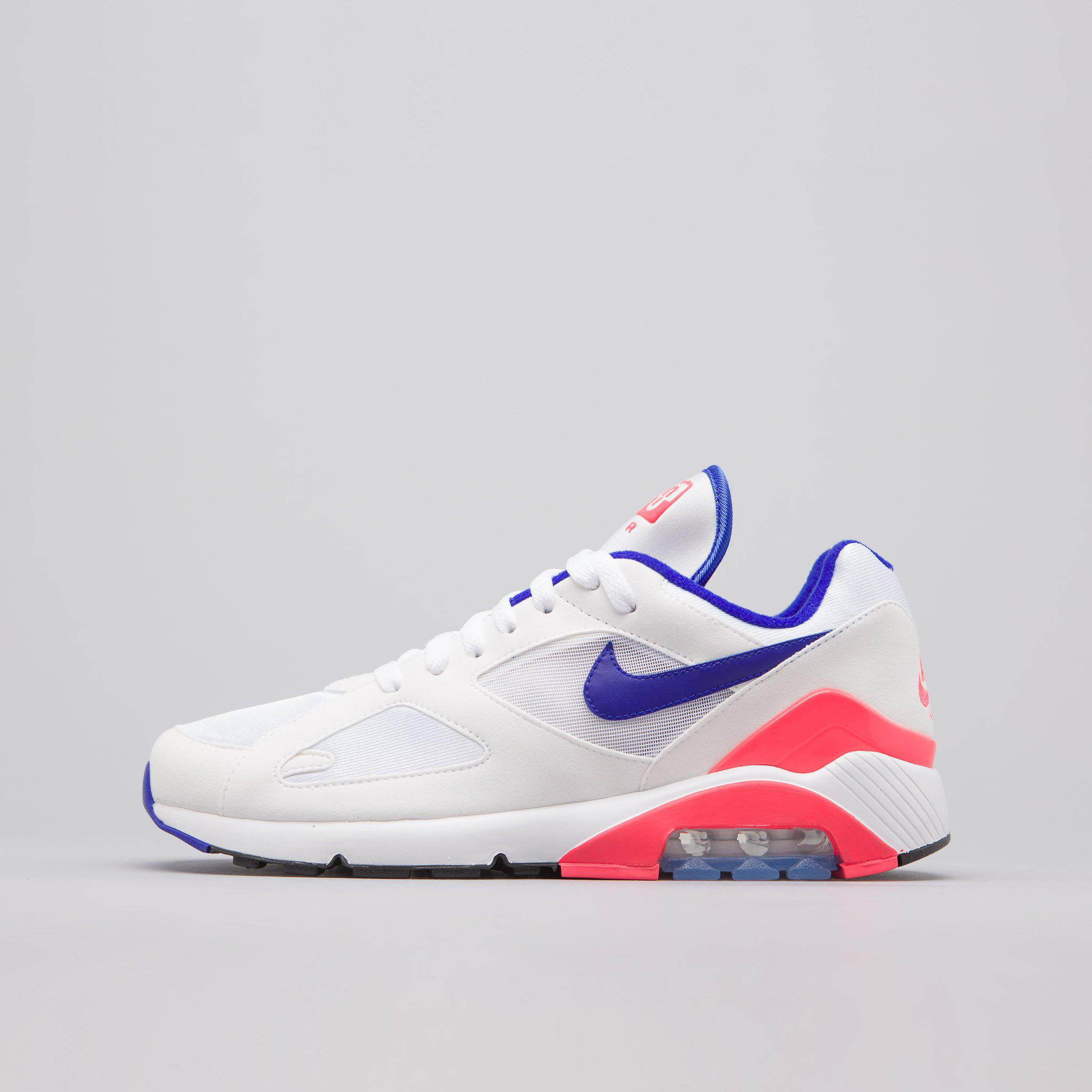 15add165cabf1c Lyst - Nike Air Max 180 In White ultramarine red in White for Men