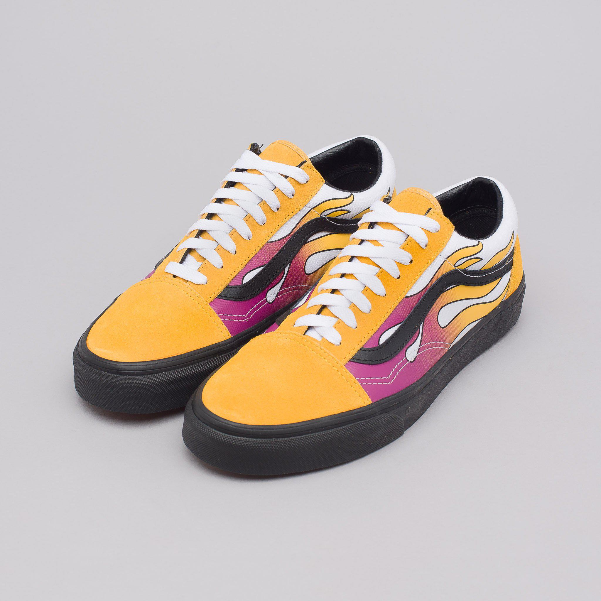 2eb5a61cbcc Lyst - Vans Old Skool Flame In Banana Yellow in Yellow for Men