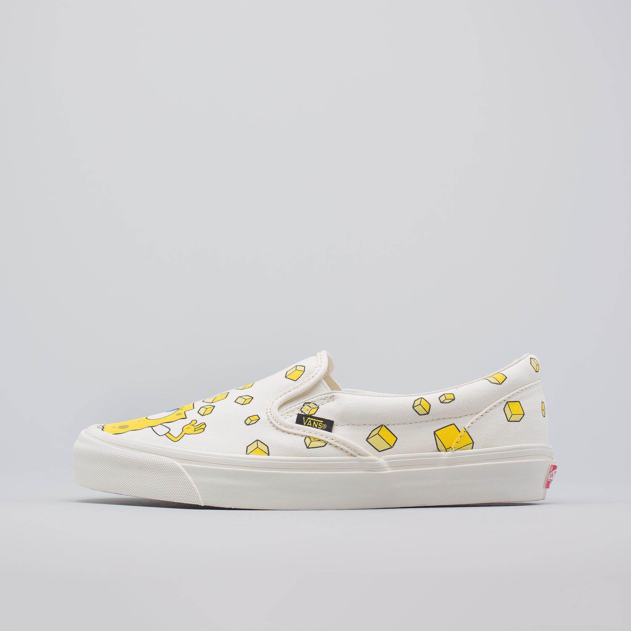 Lyst Vans X Spongebob Og Classic Slip On In Yellow White