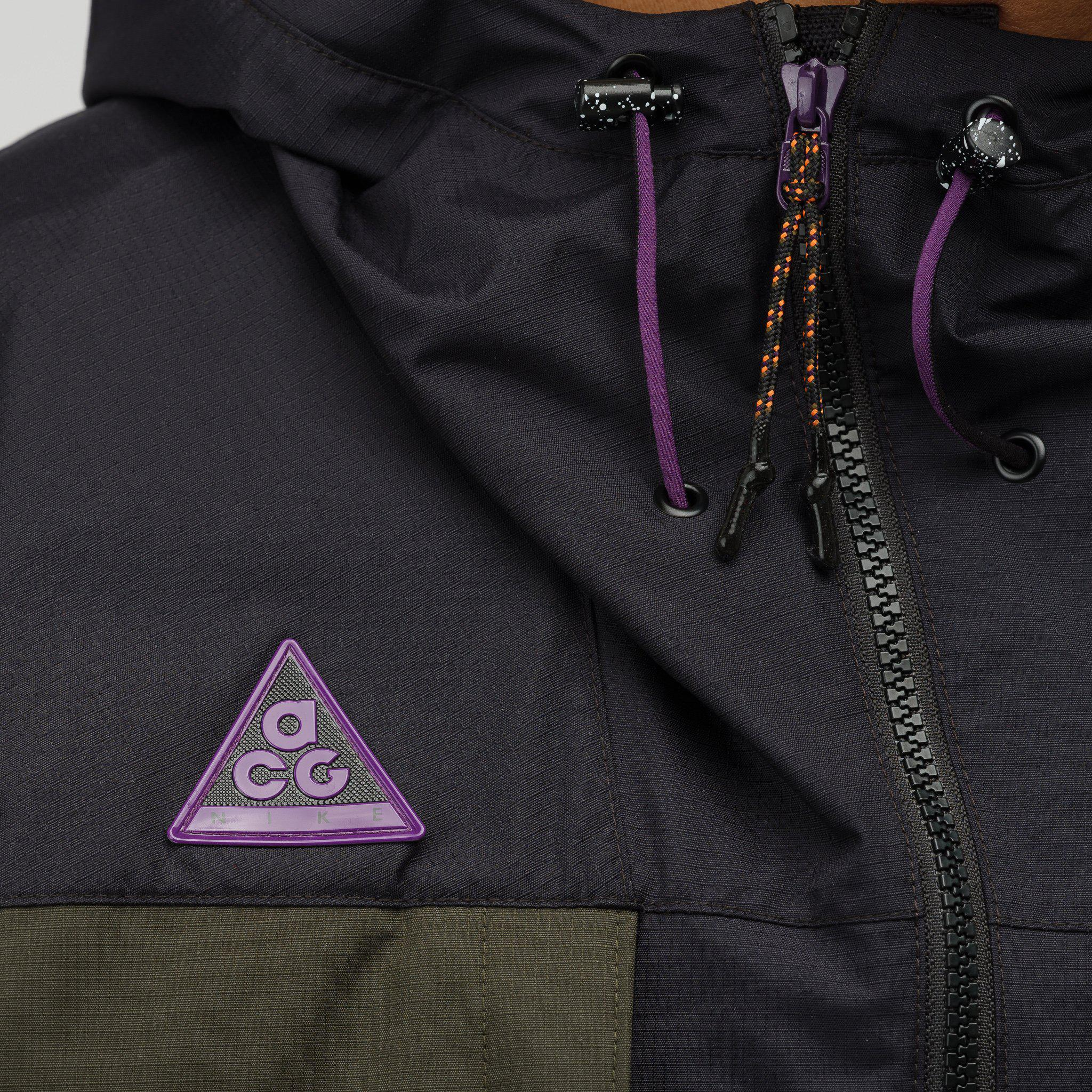 6817ed7e1 Nike Acg Anorak Jacket In Black/sequoia in Black for Men - Lyst