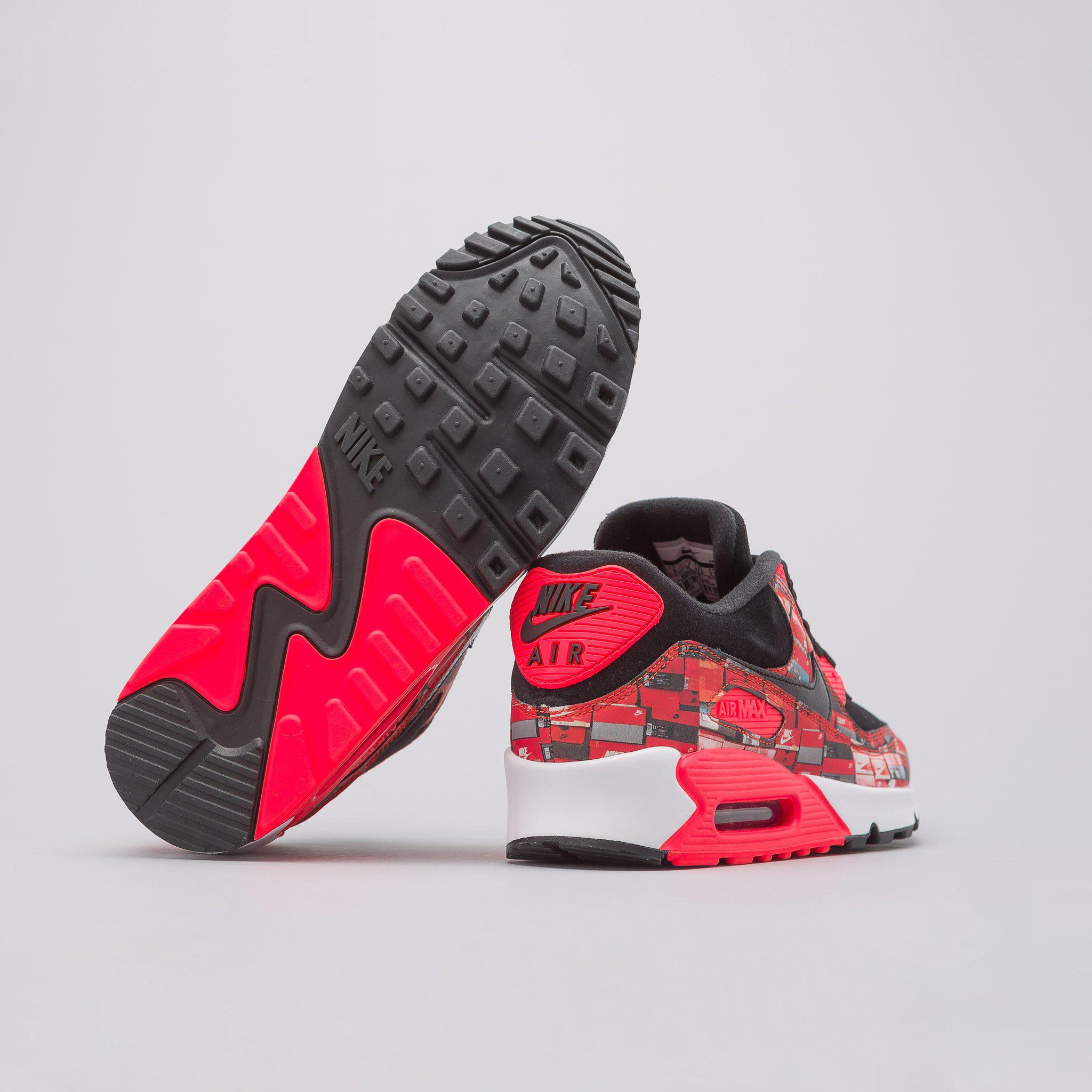 9a94e8a468 Nike X Atmos Air Max 90 'we Love ' In Black/crimson for Men - Lyst