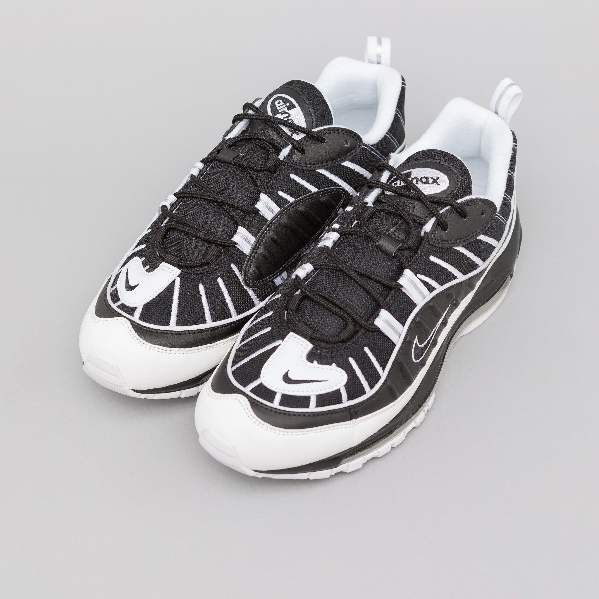 Nike - Metallic Air Max 98 In Black white Reflective Silver for Men - Lyst.  View fullscreen a1e818ea1