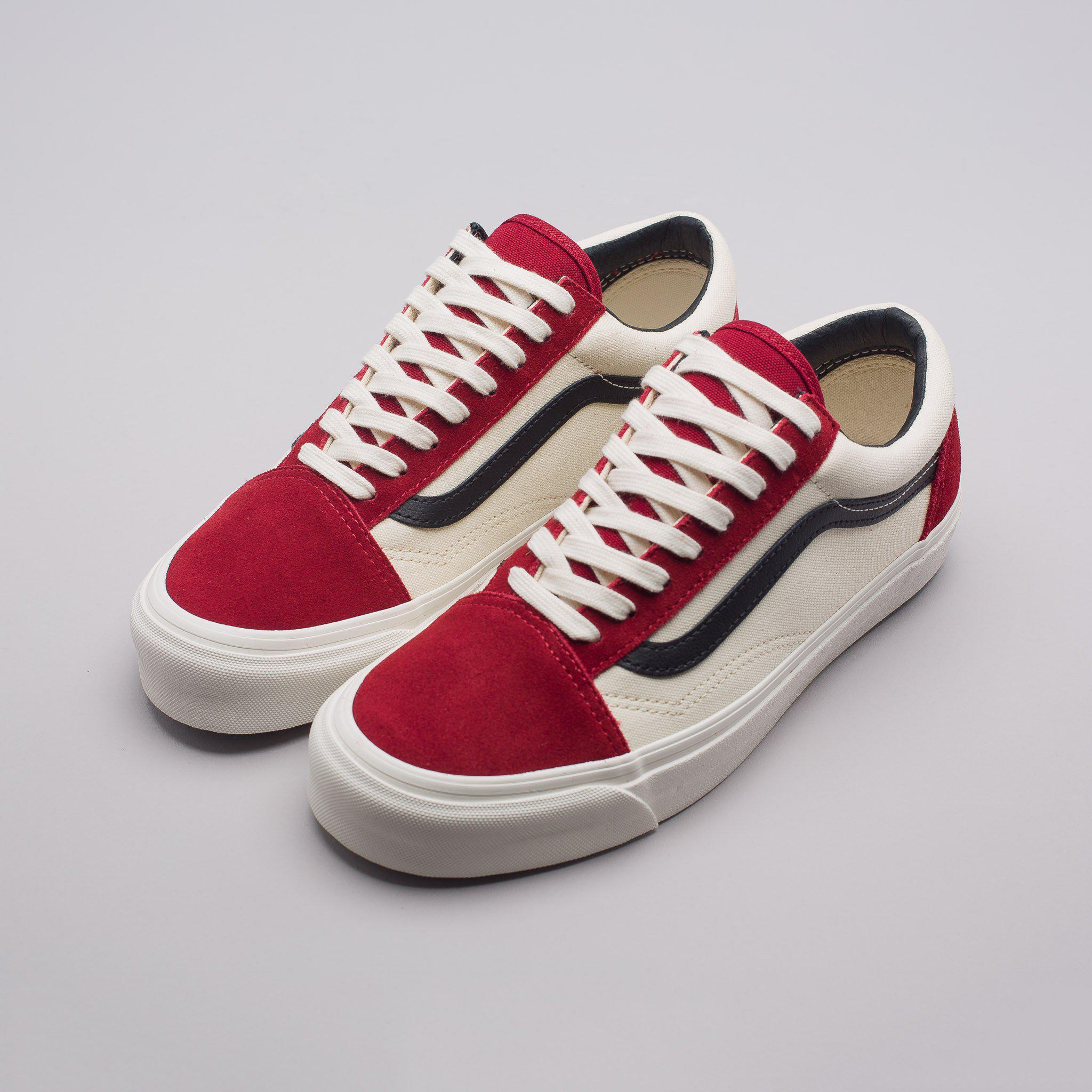 vans old skool og lx red dahlia