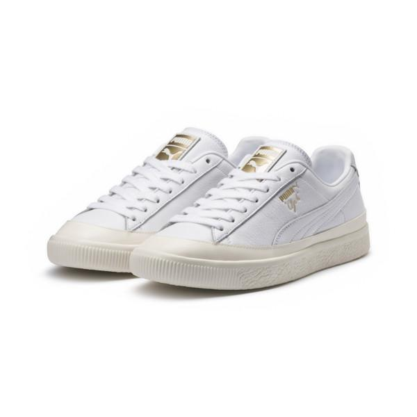 PUMA Clyde Rubber Toe Leather in White for Men - Lyst 18b79258e